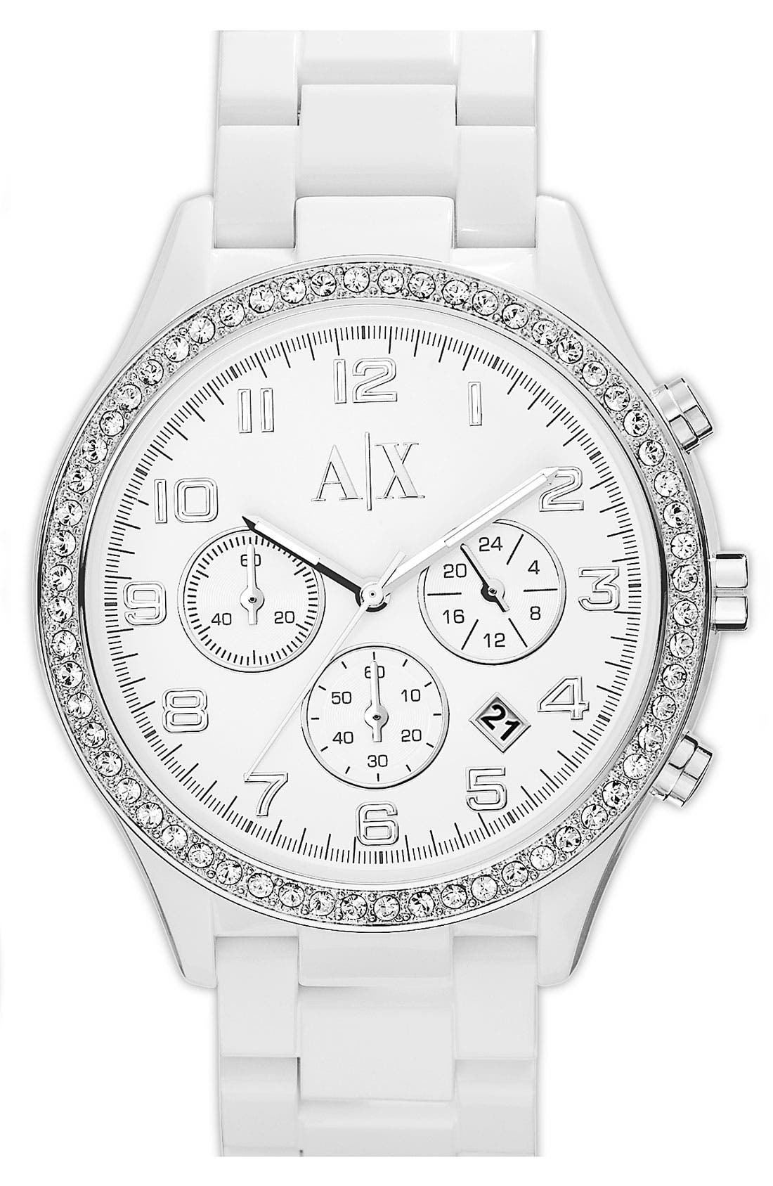 Main Image - AX Armani Exchange Round Bracelet Watch, 42mm (Online Only)