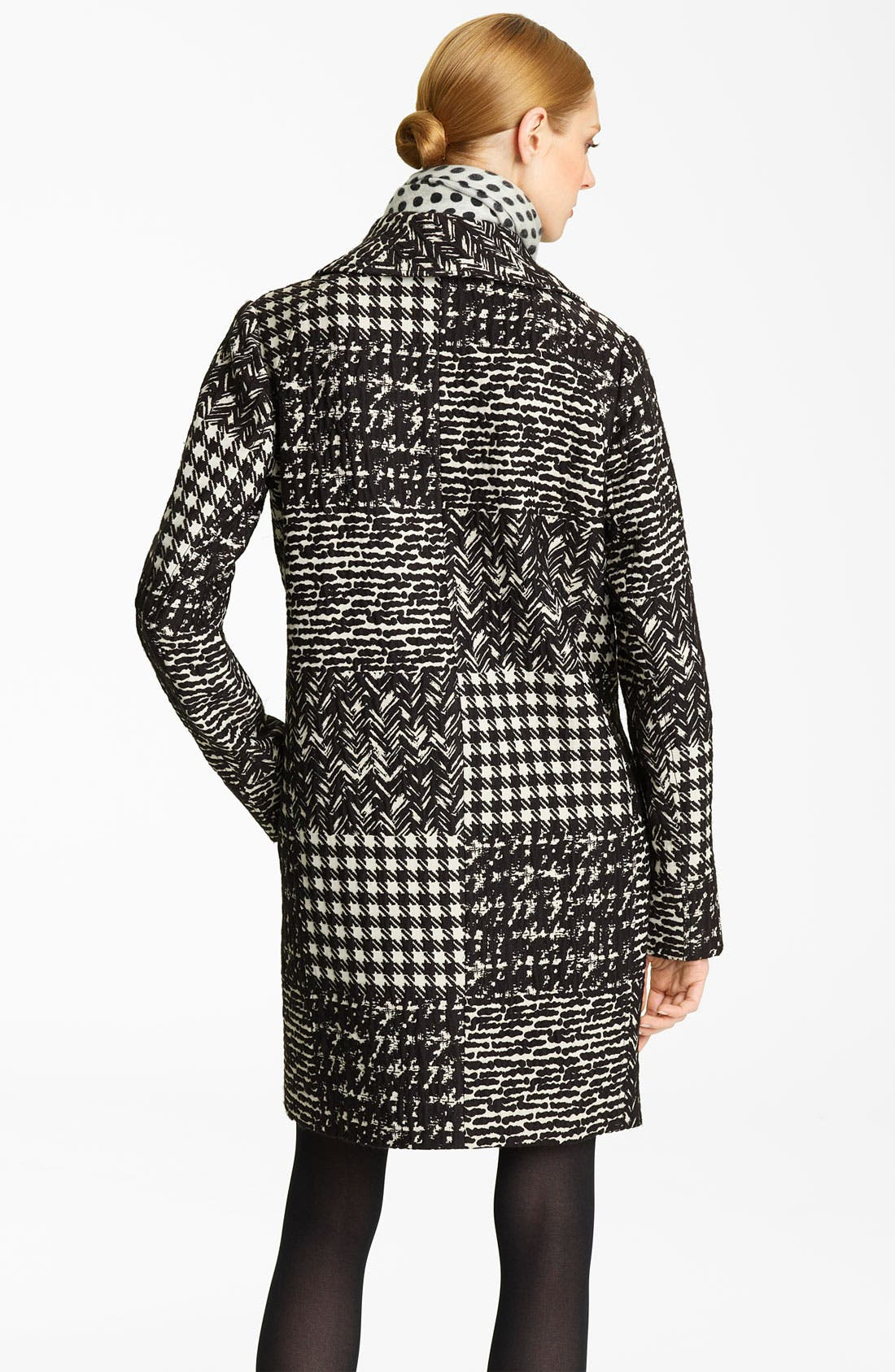 Alternate Image 2  - Oscar de la Renta Tweed & Matelassé Patchwork Coat
