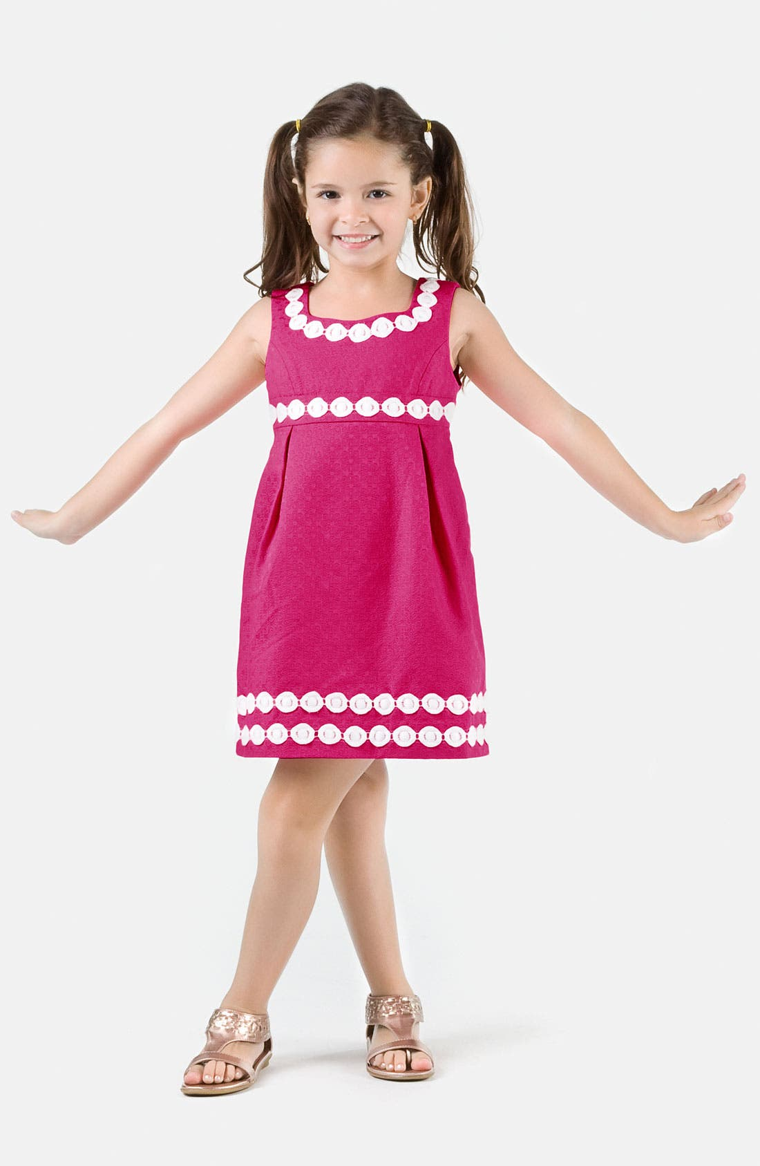 Alternate Image 1 Selected - Lilly Pulitzer® Jacquard Dress (Big Girls)