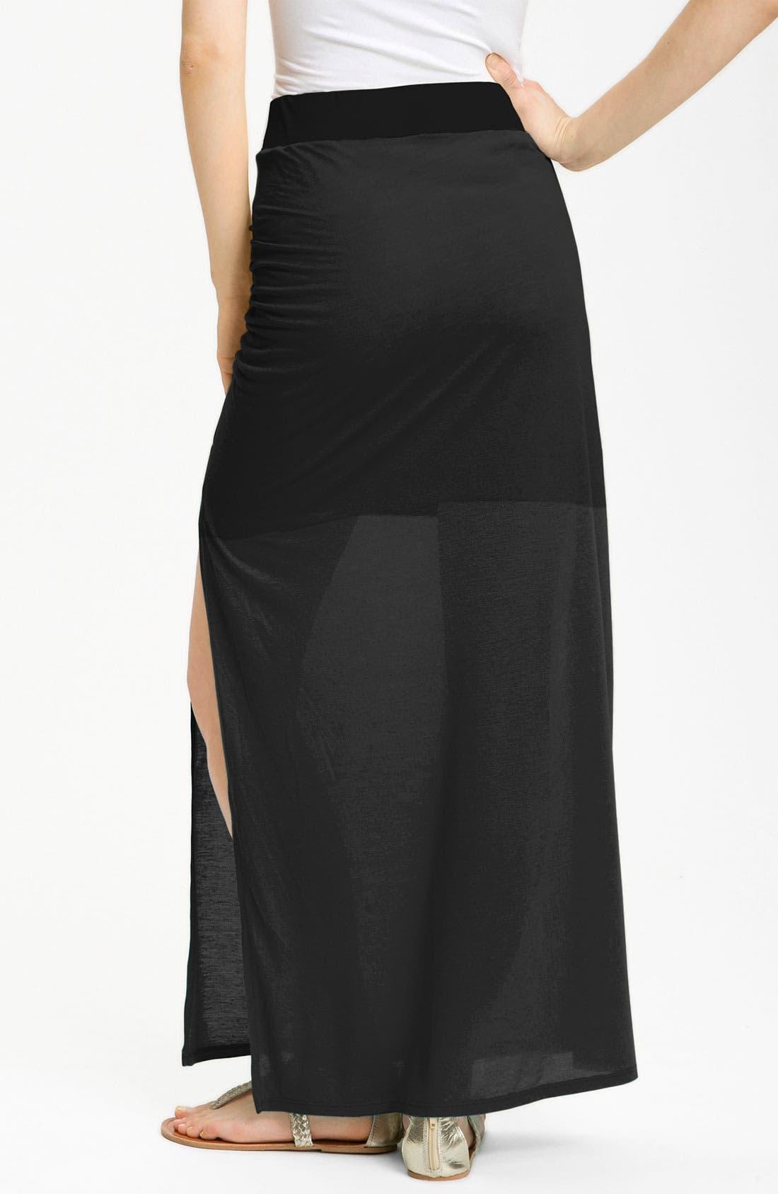 Alternate Image 2  - Stem Ruched Maxi Skirt