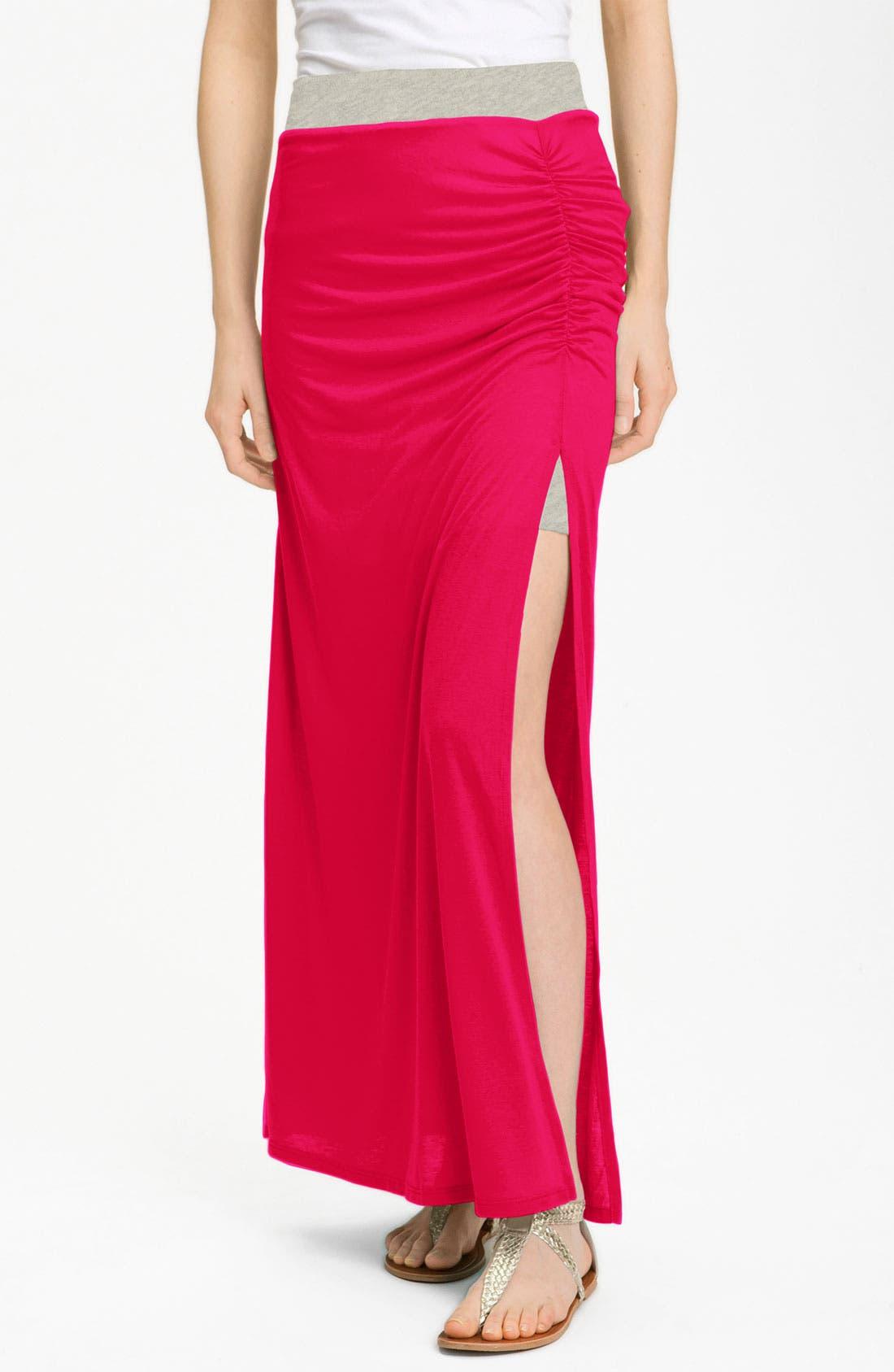 Main Image - Stem Ruched Maxi Skirt