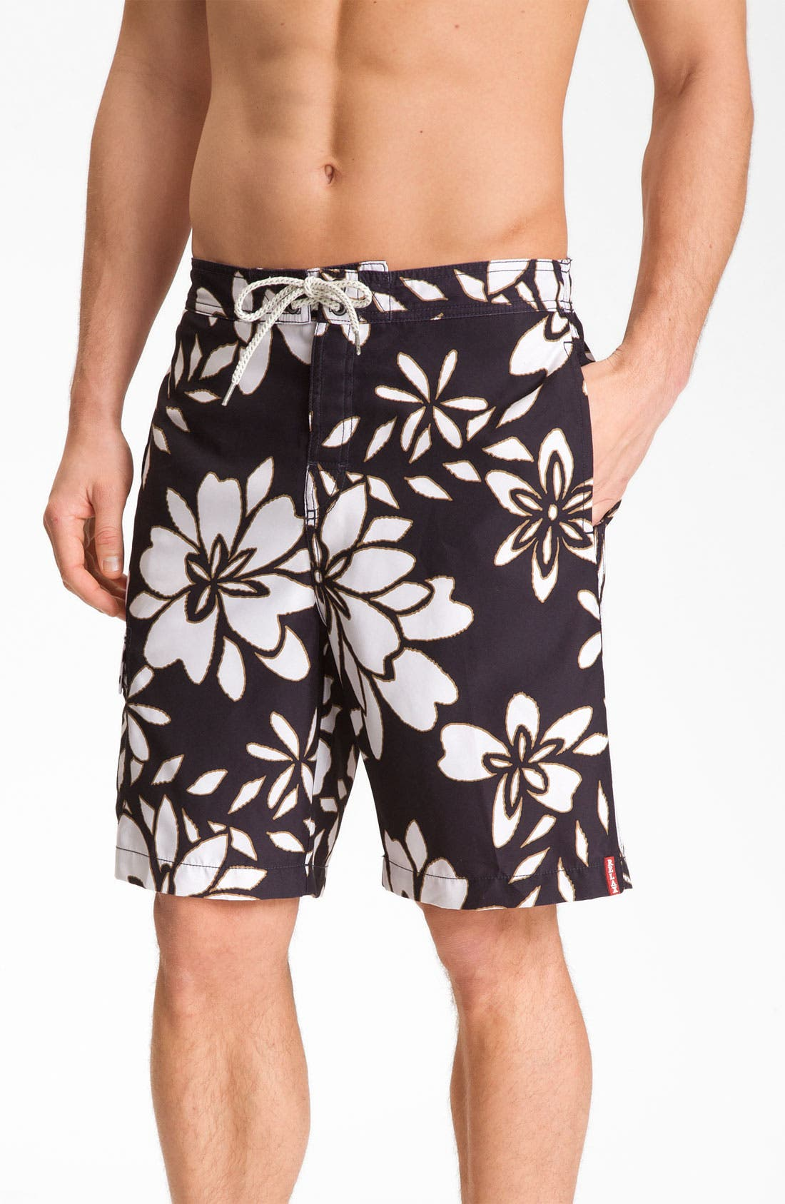 Alternate Image 1 Selected - Tommy Bahama 'Stencil Me In' Swim Trunks (Big & Tall)