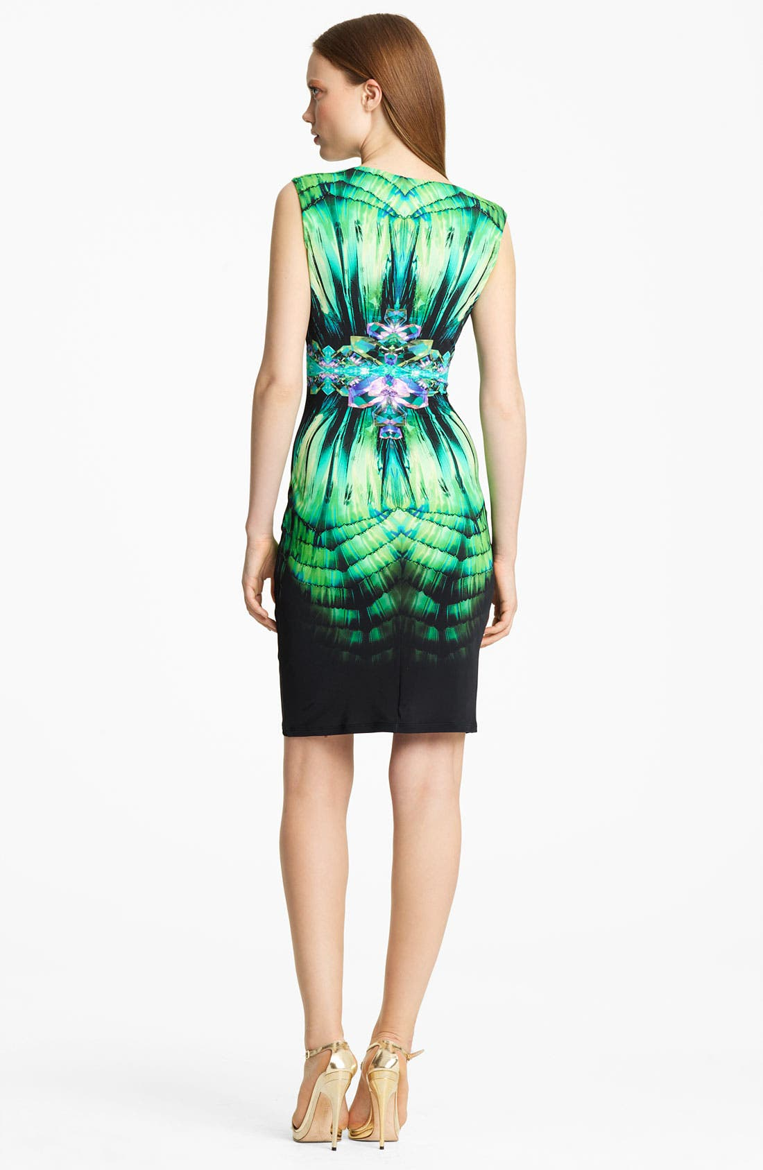 Alternate Image 2  - Roberto Cavalli Asymmetrical Neck Jersey Dress