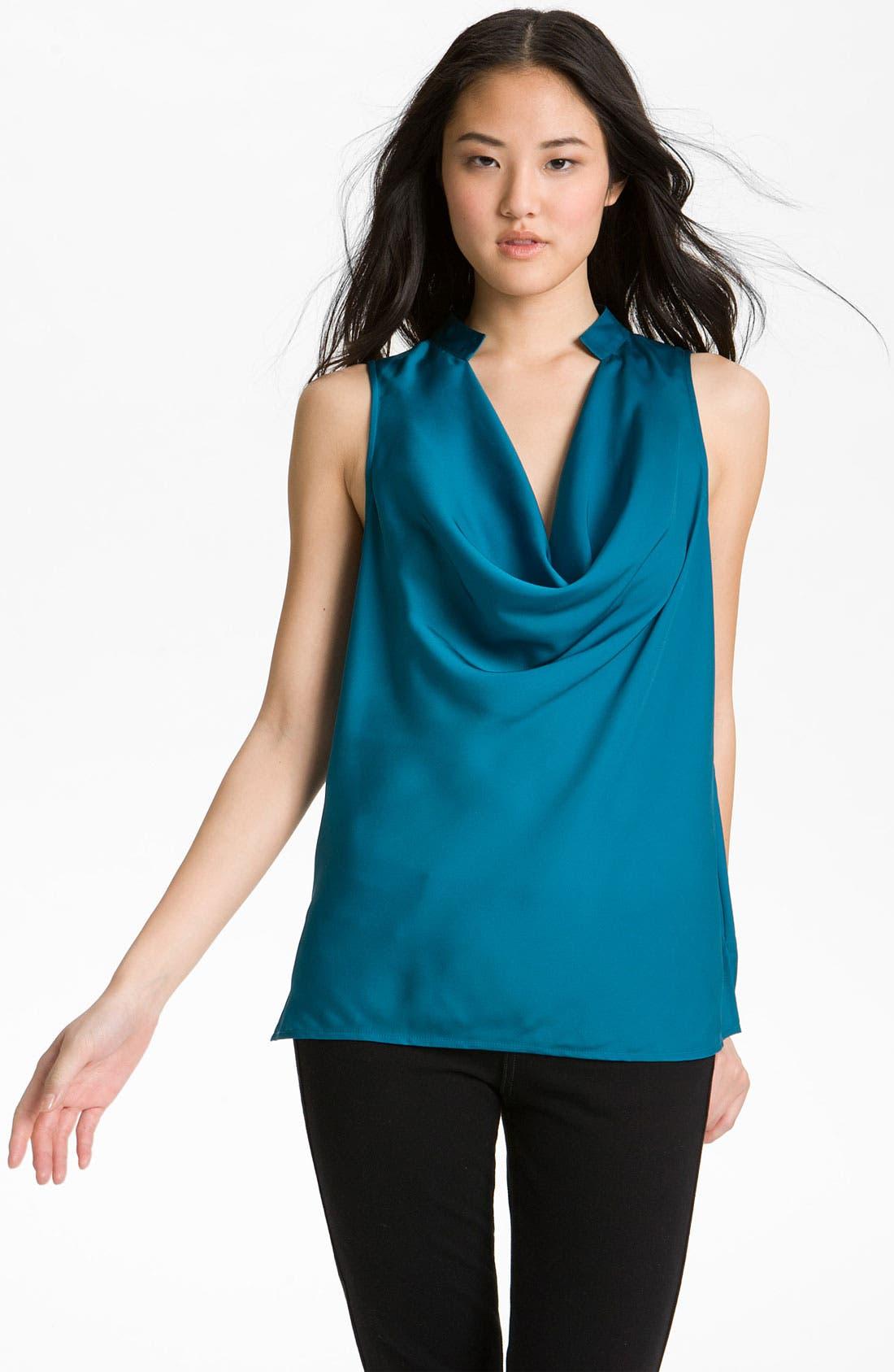 Main Image - Halogen® Drape Neck Sleeveless Blouse
