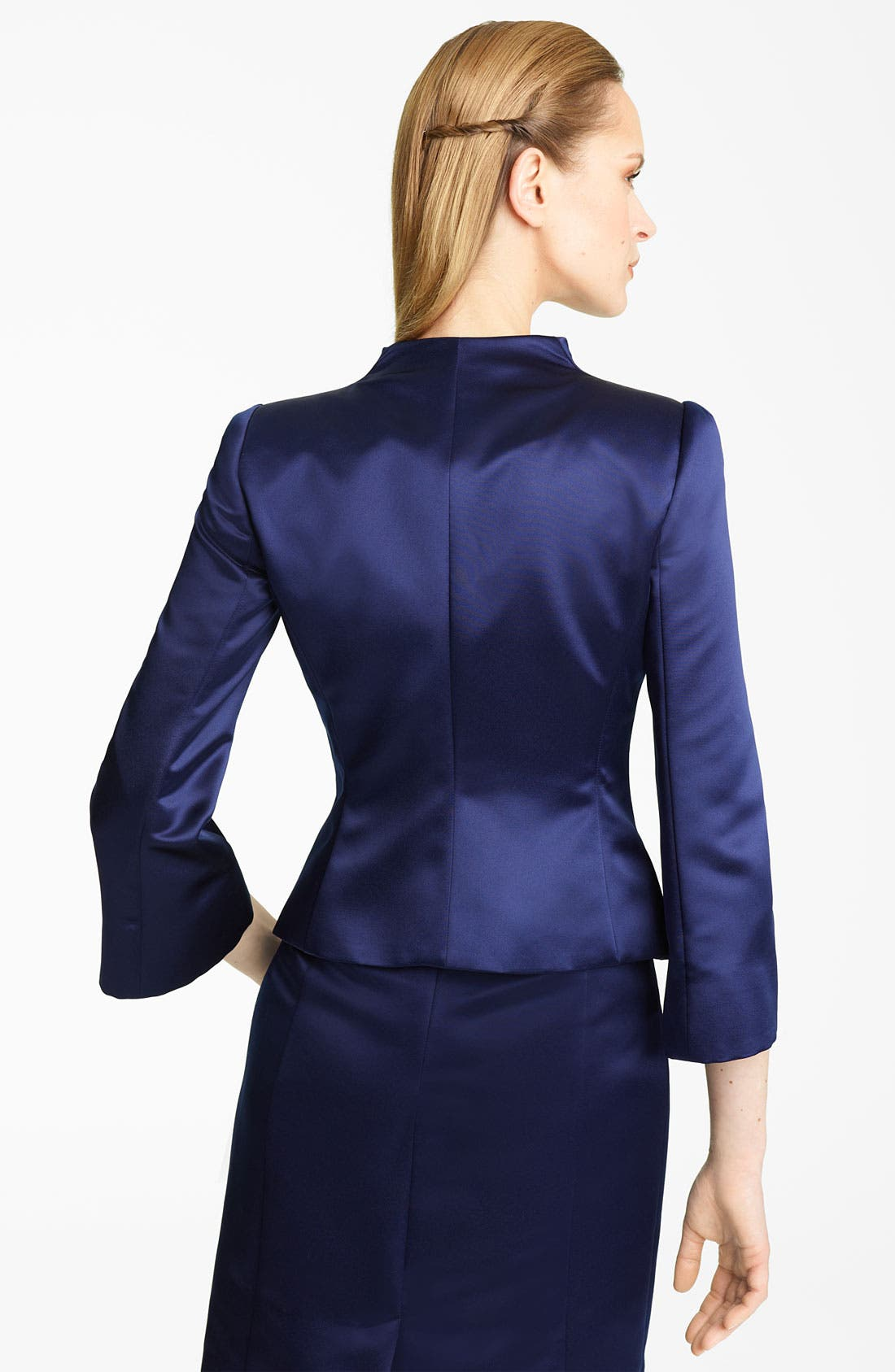 Alternate Image 2  - Armani Collezioni Duchesse Satin Jacket
