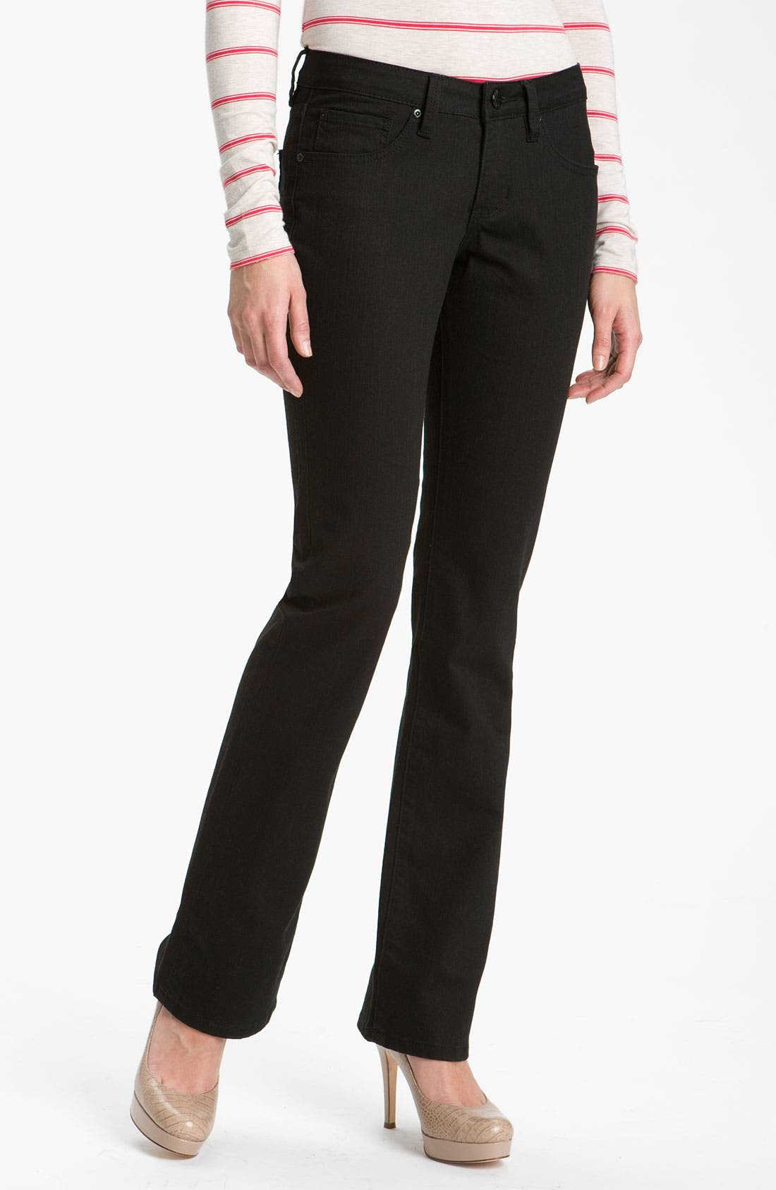 Main Image - Jag Jeans 'Lucy' Bootcut Stretch Jeans (Black Wash) (Online Exclusive)