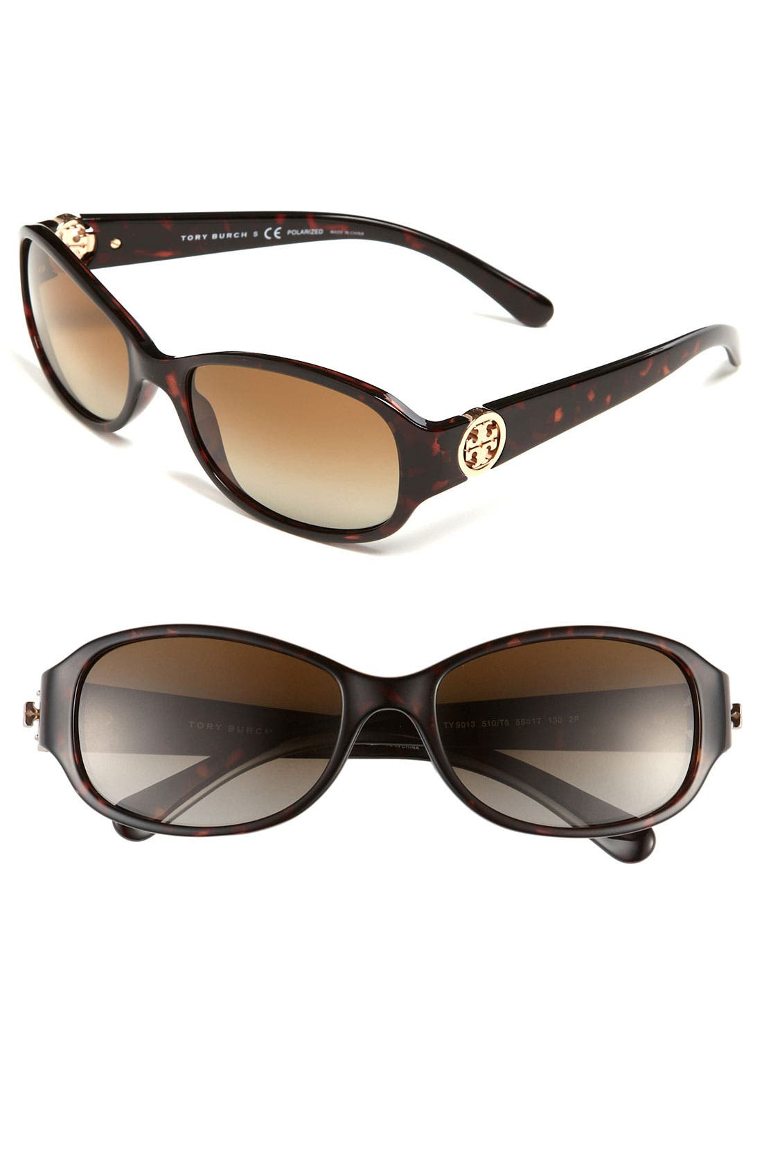 Main Image - Tory Burch 56mm Polarized Sunglasses