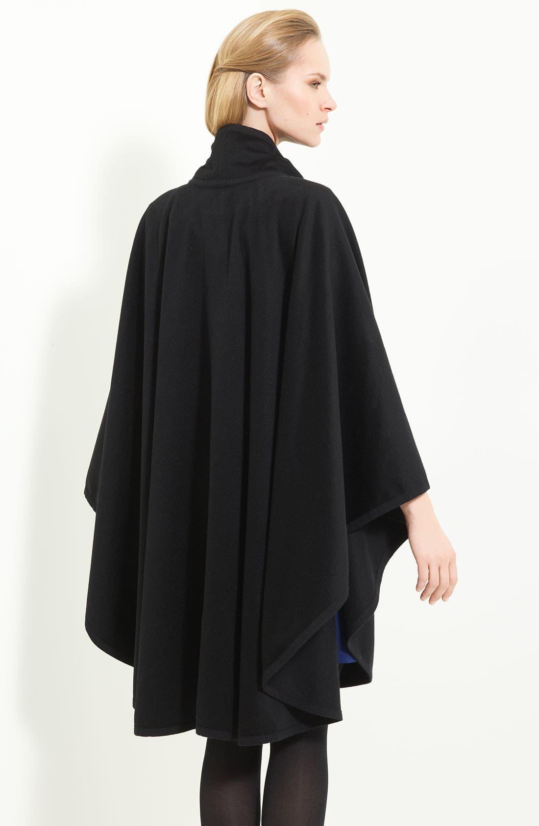 Alternate Image 2  - Armani Collezioni Tie Neck Wool Cape