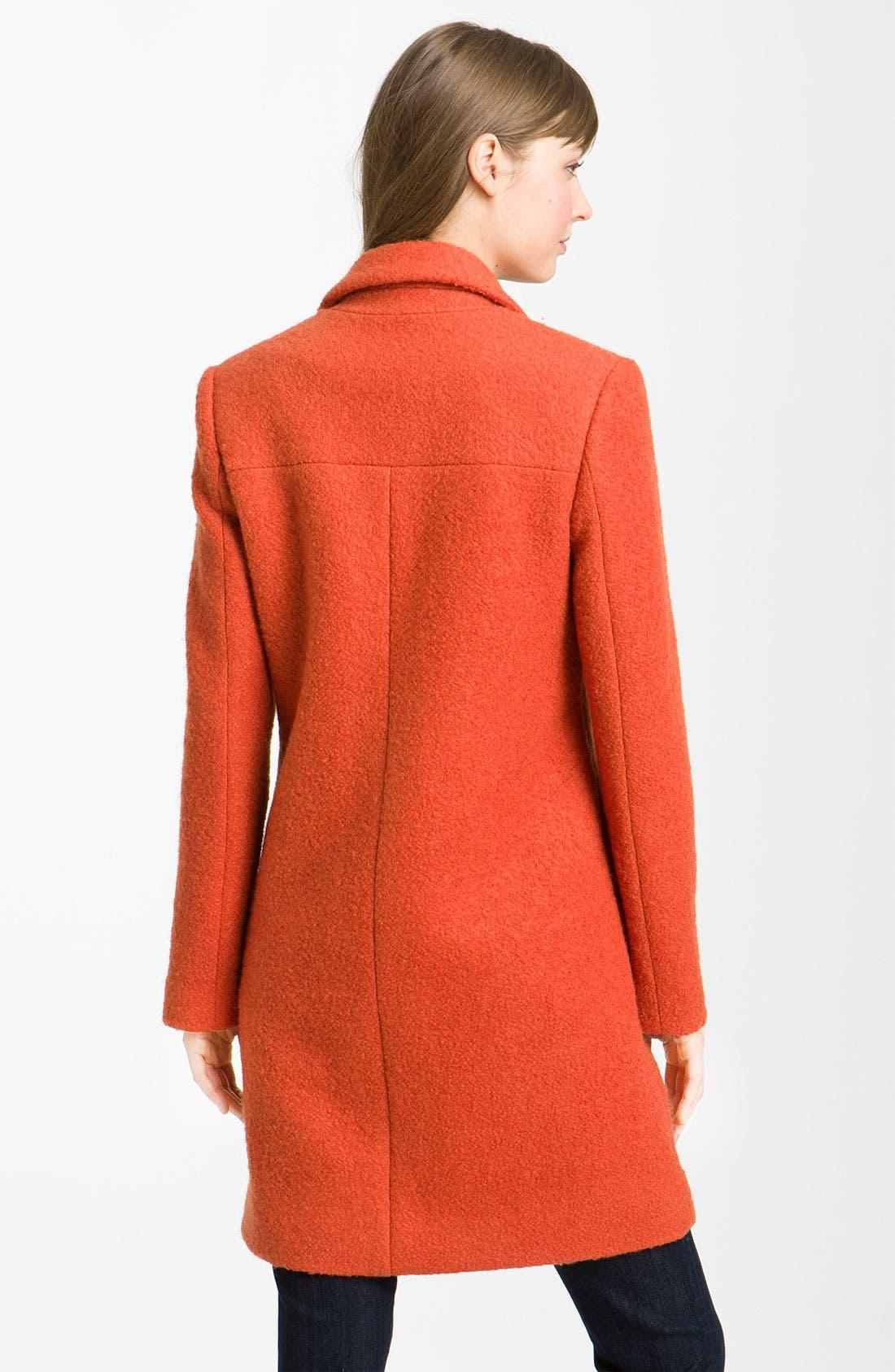 Alternate Image 2  - Kenneth Cole New York Notch Collar Bouclé Coat