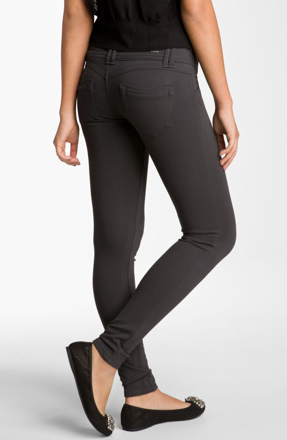 Main Image - Jolt Ponte Skinny Pants (Juniors)