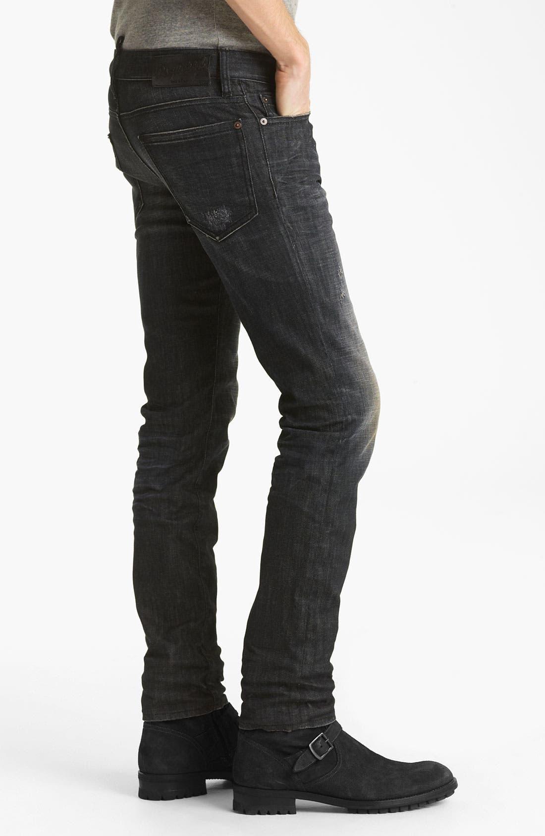 Alternate Image 3  - Dsquared2 Slim Fit Jeans (Black Night)