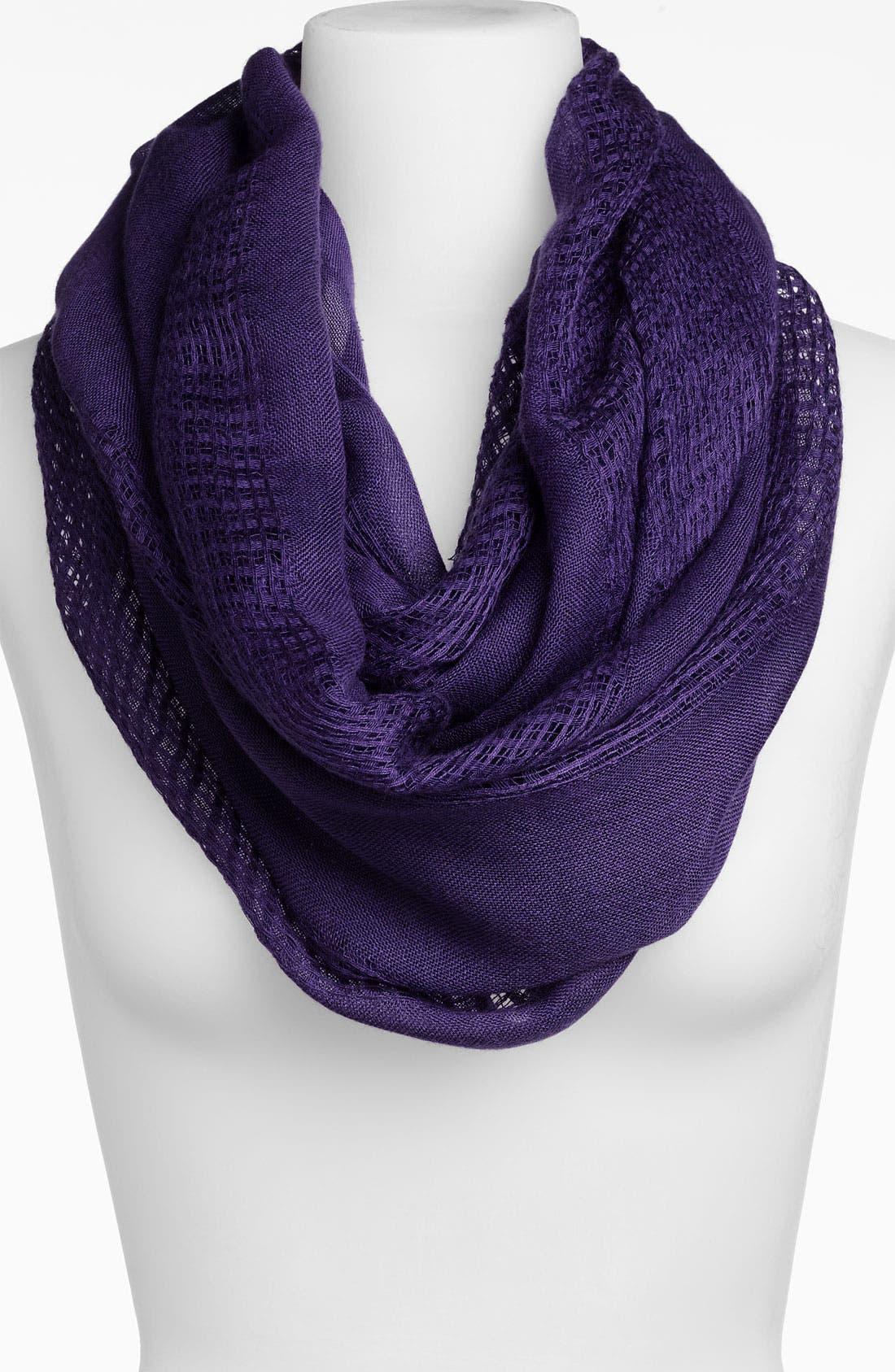 Woven Infinity Scarf,                         Main,                         color, Purple Vine