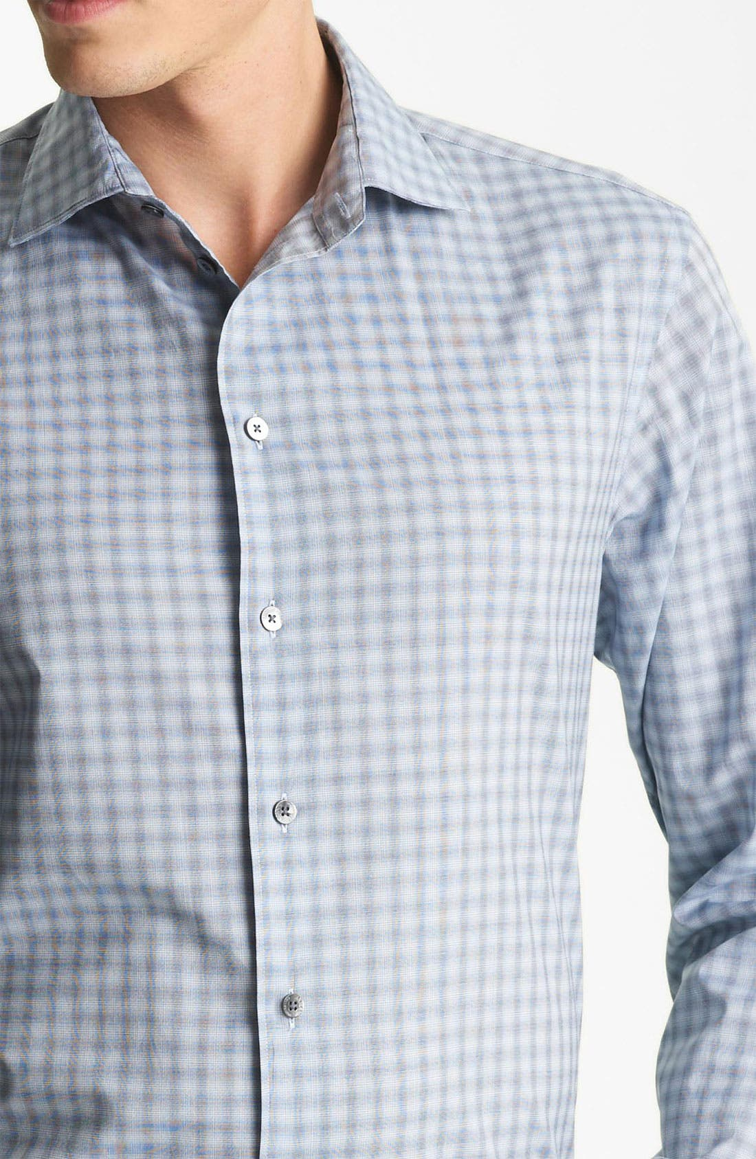 Alternate Image 3  - Armani Collezioni Plaid Woven Shirt