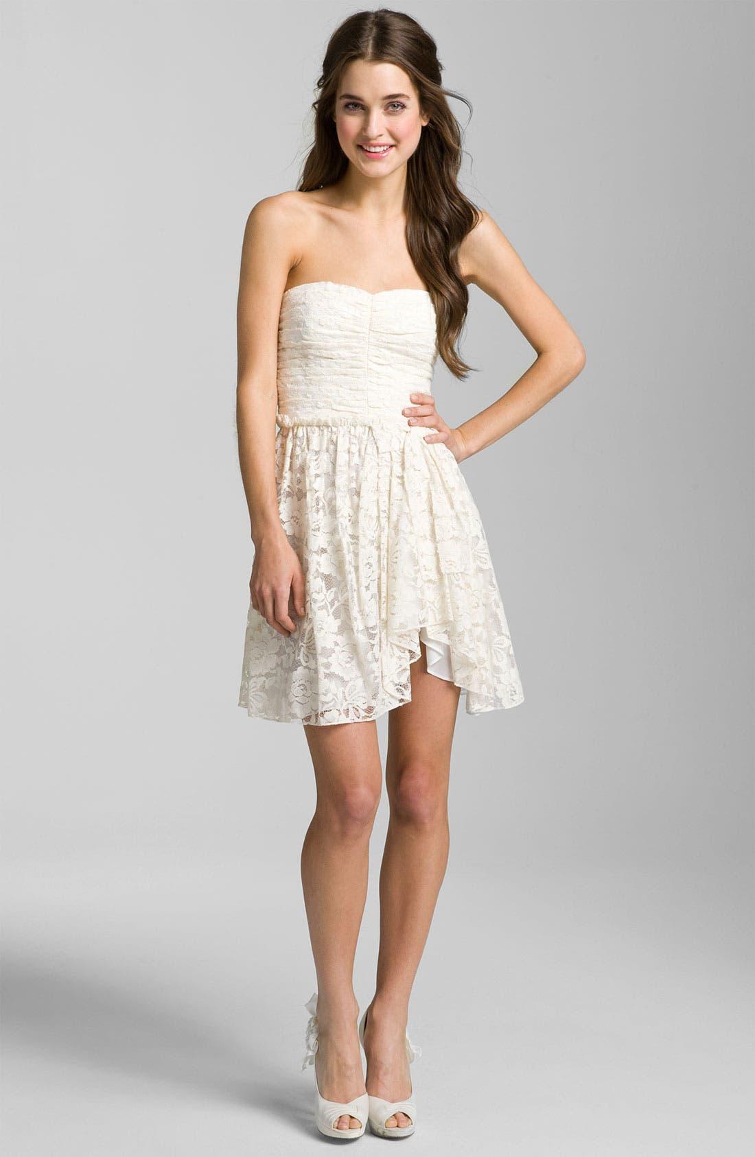 Sweetheart Lace Dress,                             Main thumbnail 1, color,                             Ivory