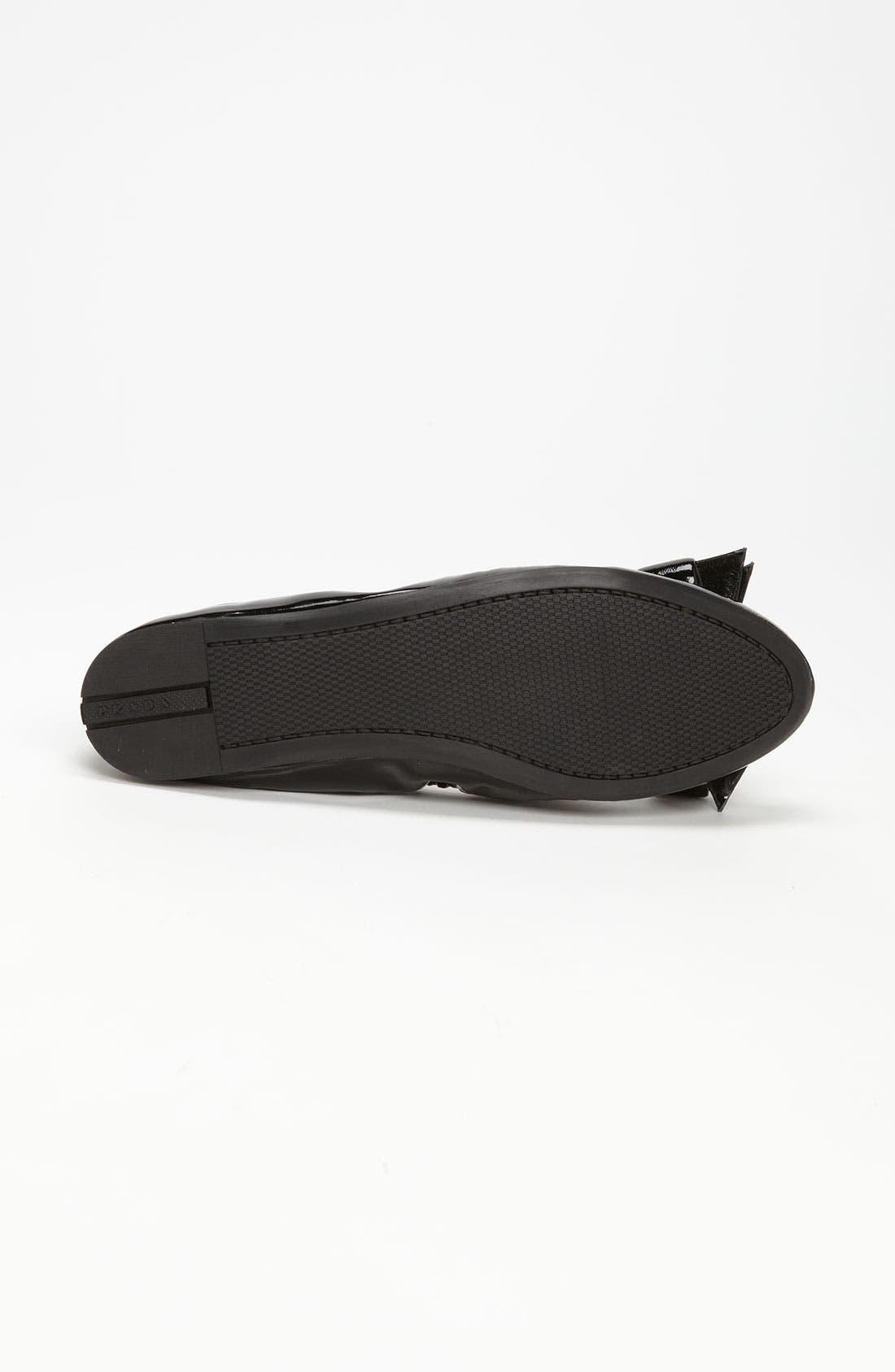 Alternate Image 4  - Prada Bow Ballet Flat