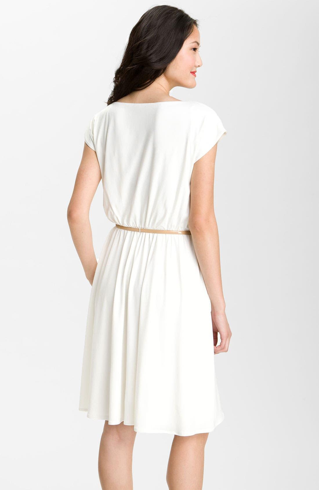 Alternate Image 2  - Maggy London Belted Matte Jersey Dress
