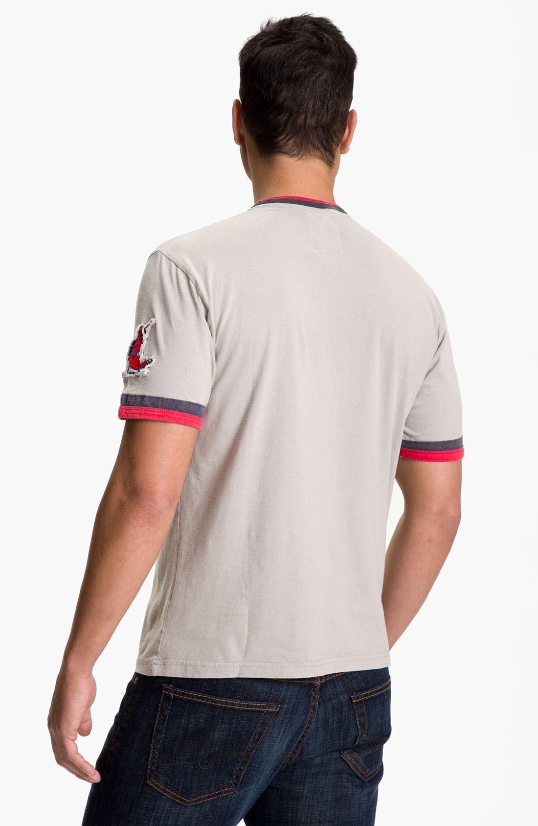 Alternate Image 3  - Red Jacket 'Cincinnati Reds' Trim Fit Crewneck Ringer T-Shirt (Men)