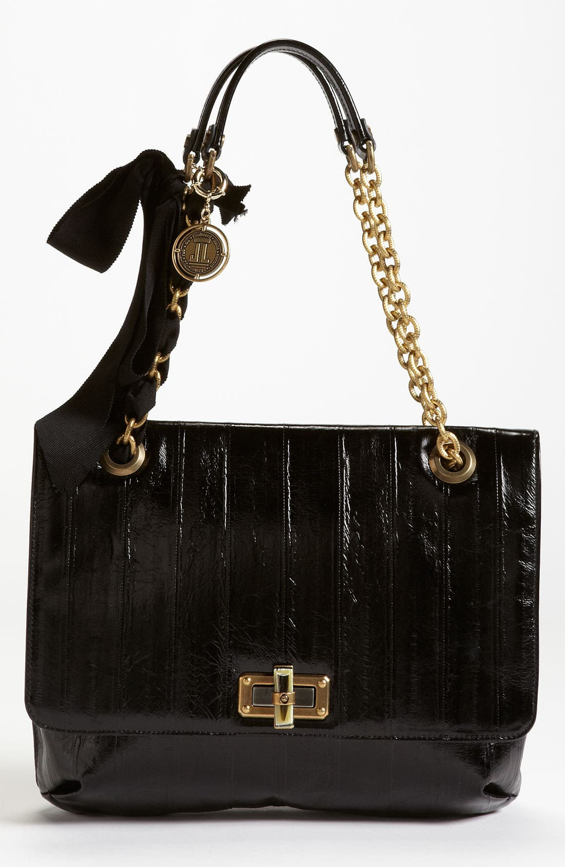 Main Image - Lanvin 'Happy' Glazed Leather Shoulder Bag