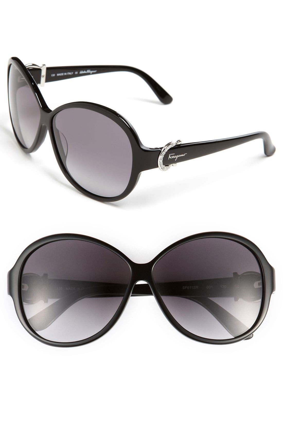 Main Image - Salvatore Ferragamo 59mm Classic Sunglasses
