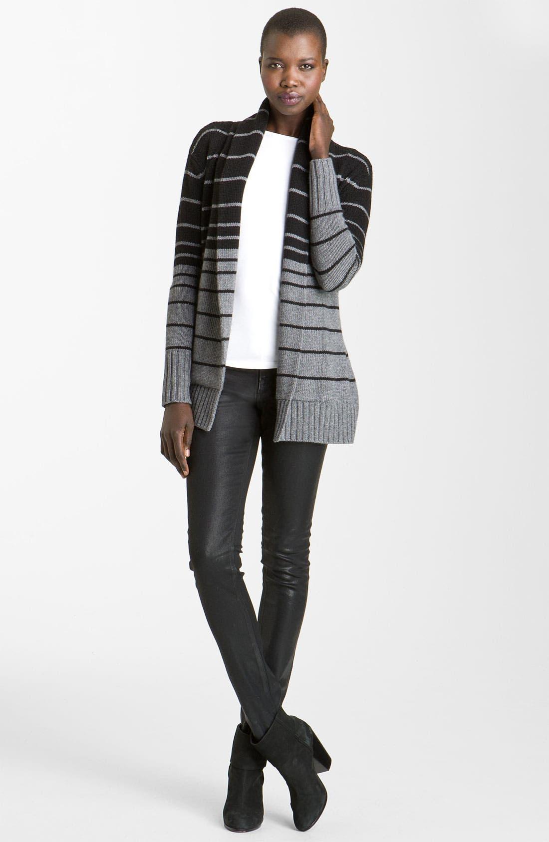 Alternate Image 1 Selected - autumn cashmere Ombré Stripe Cardigan