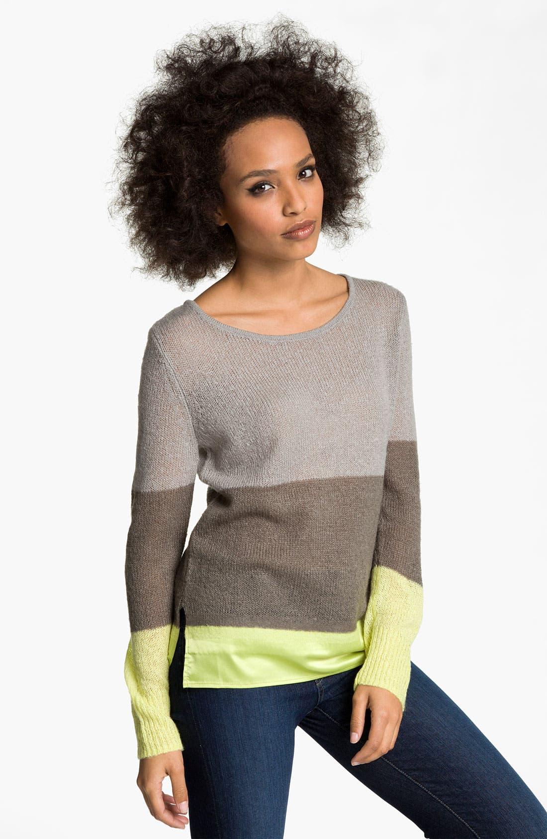 Alternate Image 1 Selected - Hinge® Satin Needle Punch Sweater