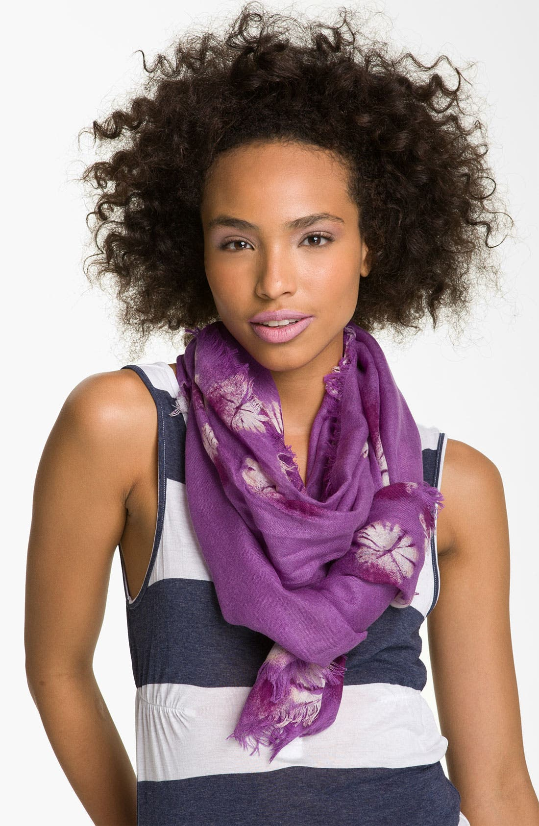 Alternate Image 1 Selected - Nordstrom 'On the Edge' Cashmere & Silk Scarf