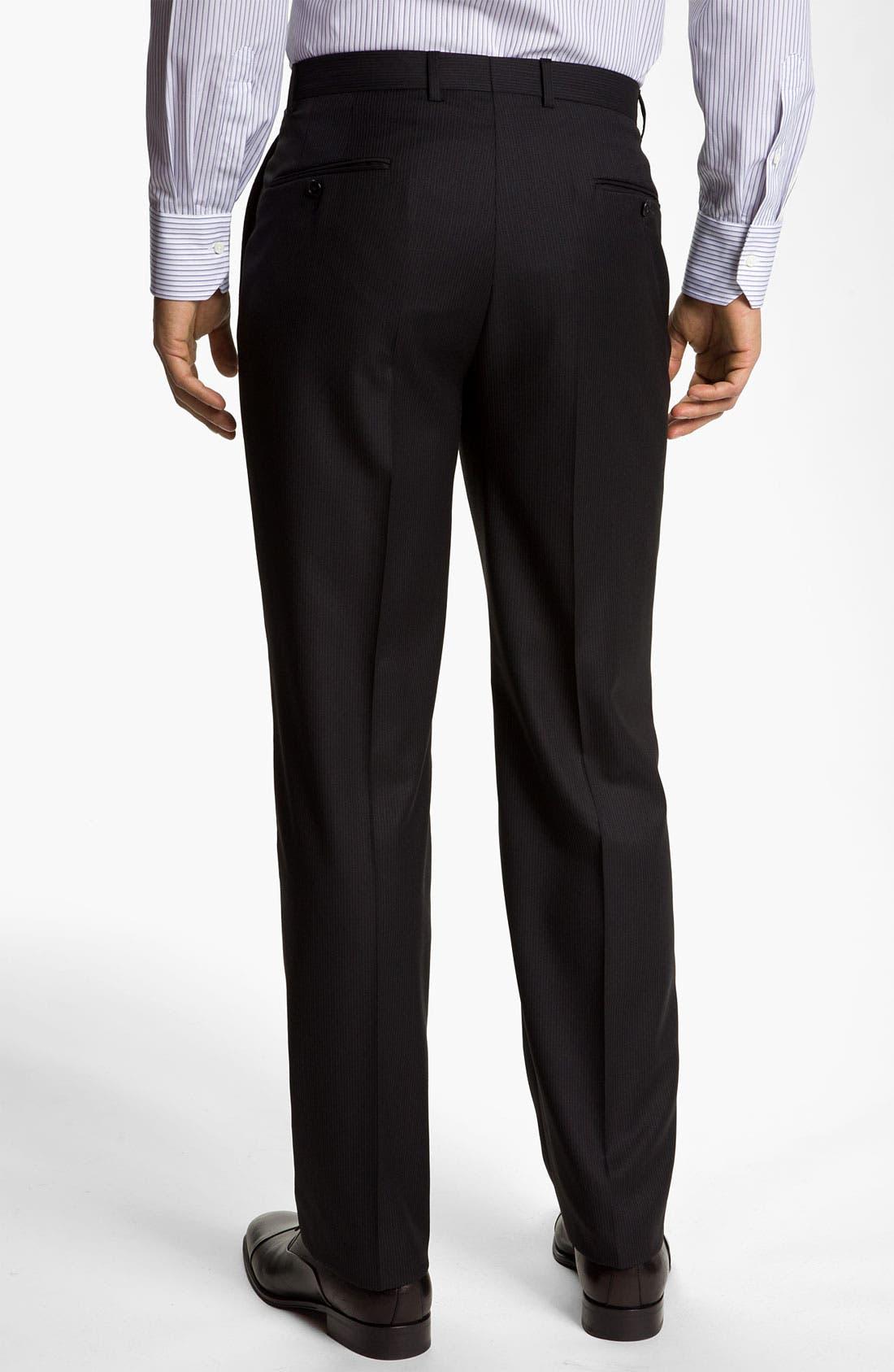 Alternate Image 5  - Hickey Freeman Stripe Suit