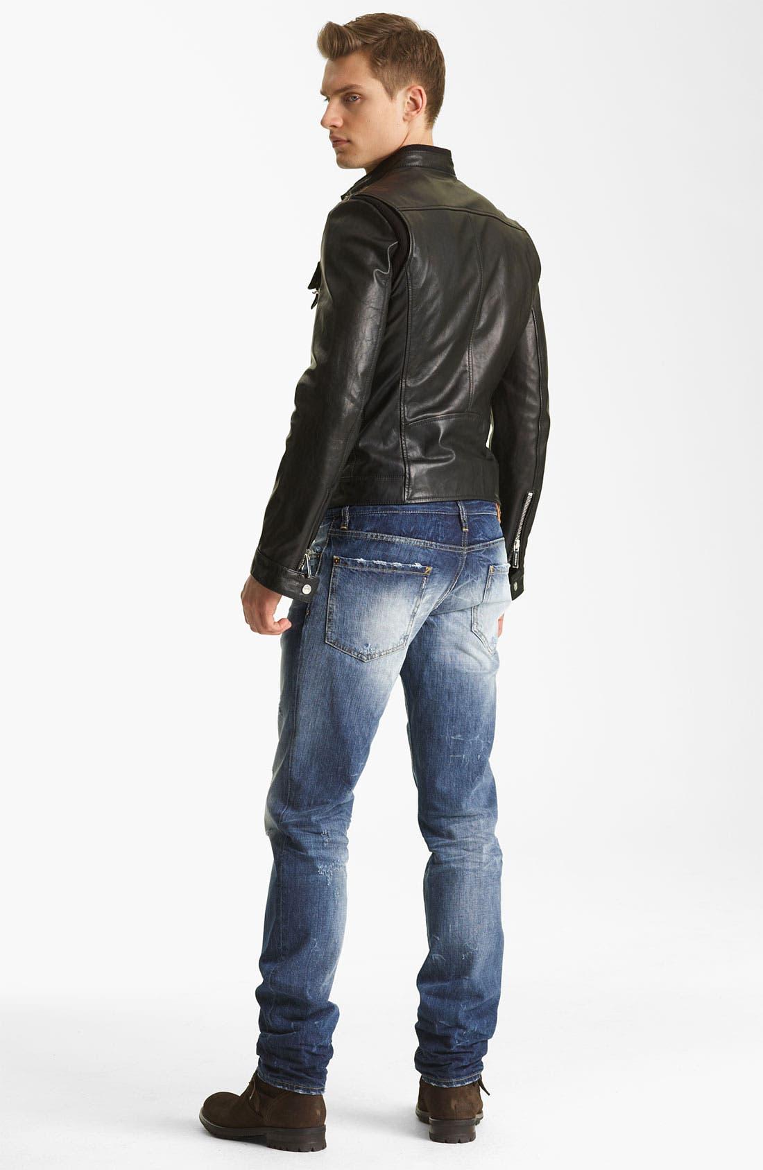 Alternate Image 6  - Dsquared2 'Chic' Leather Moto Jacket
