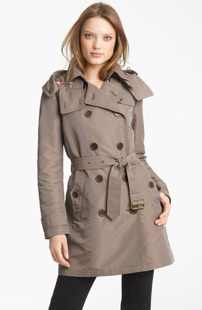 burberry brit double breasted trench coat nordstrom. Black Bedroom Furniture Sets. Home Design Ideas