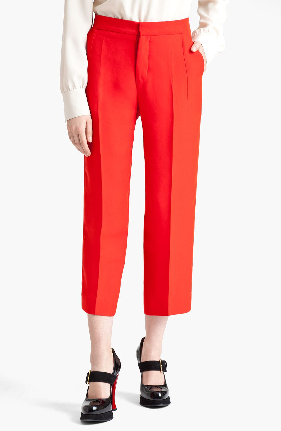 Alternate Image 1 Selected - Marni Crop Straight Leg Organza Pants