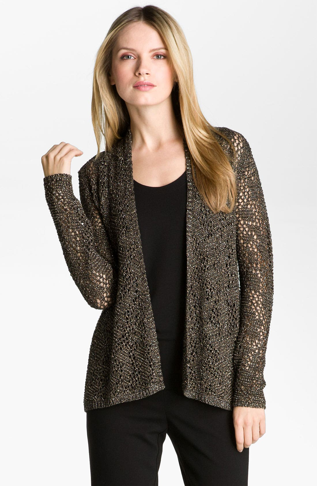 Main Image - Eileen Fisher 'Sparkle' Knit Cardigan