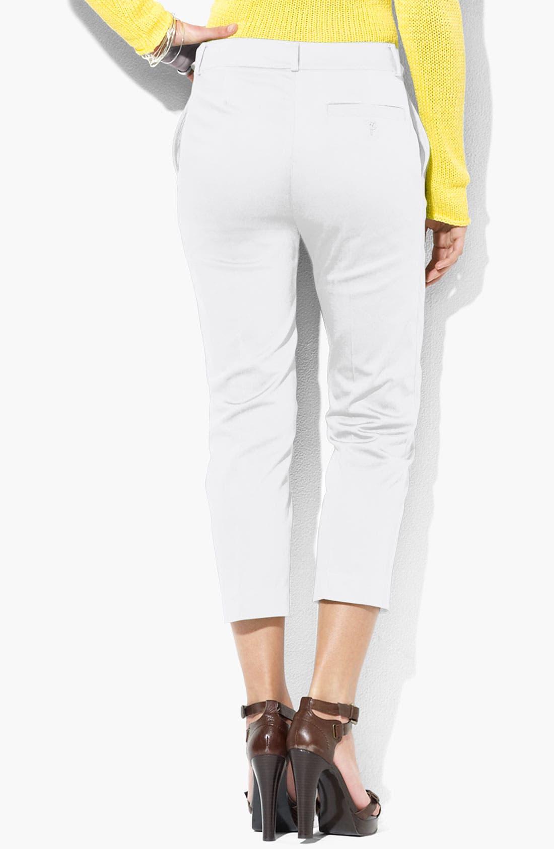 Alternate Image 2  - Lauren Ralph Lauren 'Jodie' Slim Fit Crop Pants (Petite)