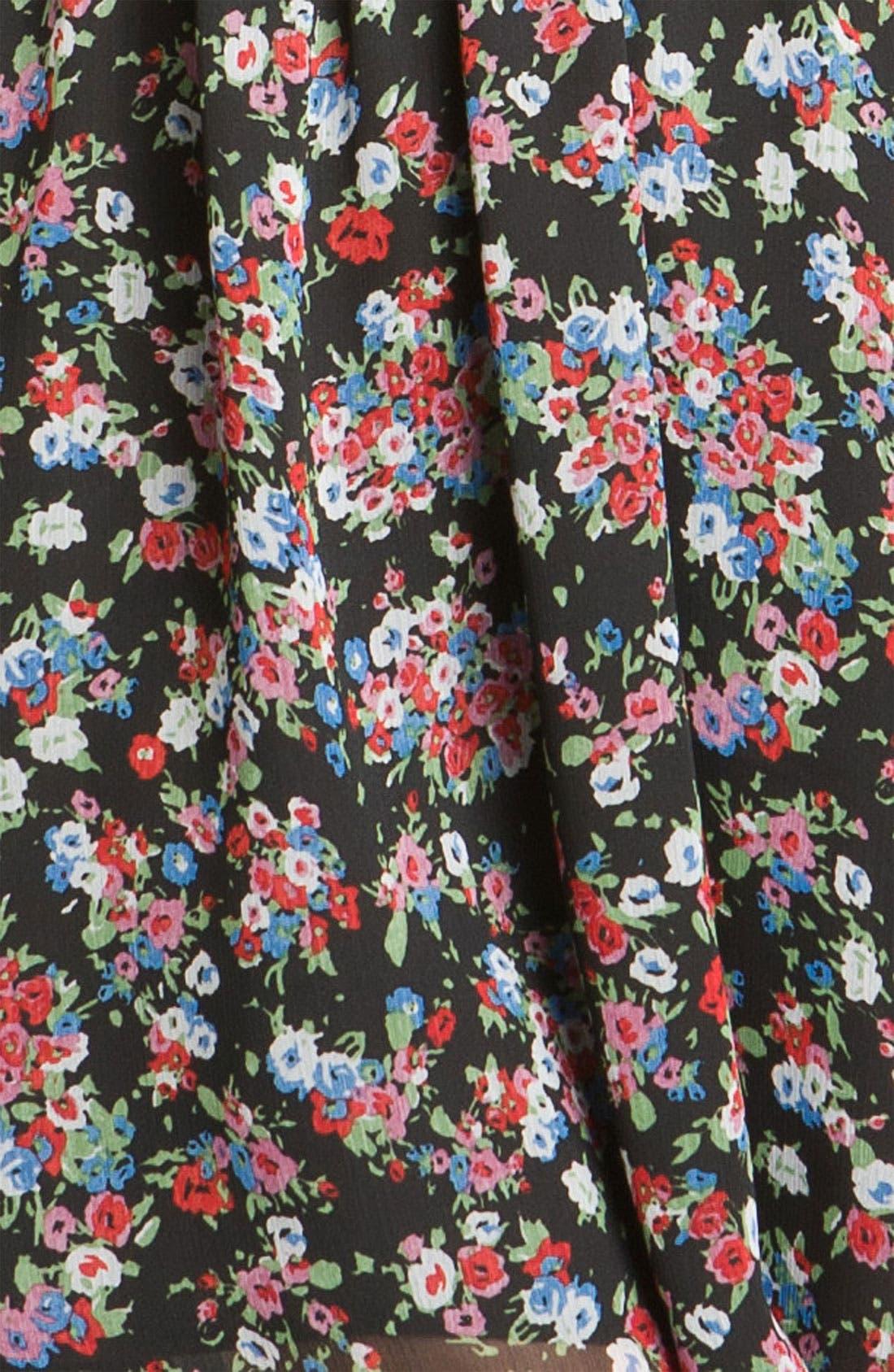 Alternate Image 3  - Fynn & Rose Strapless Floral Dress