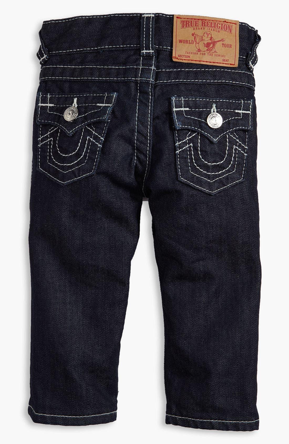 Alternate Image 1 Selected - True Religion Brand Jeans Straight Leg Jeans (Infant)