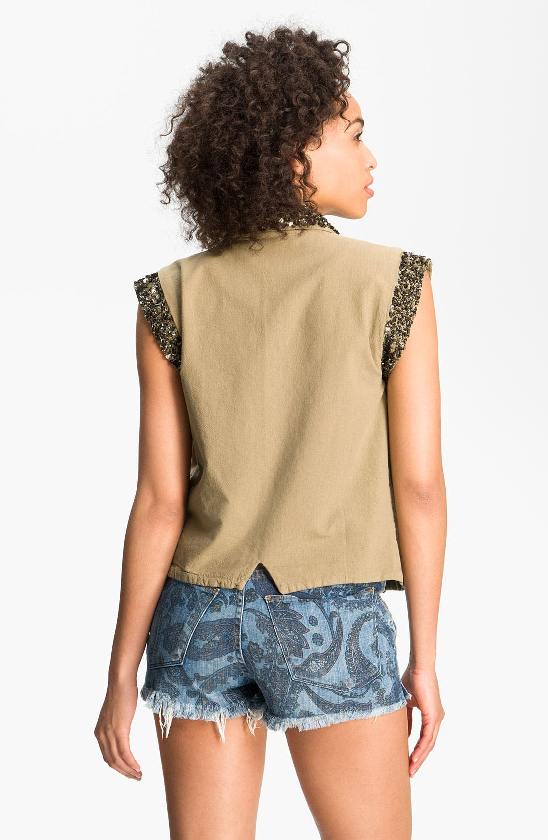 Alternate Image 2  - Maison Scotch Sequin Vest