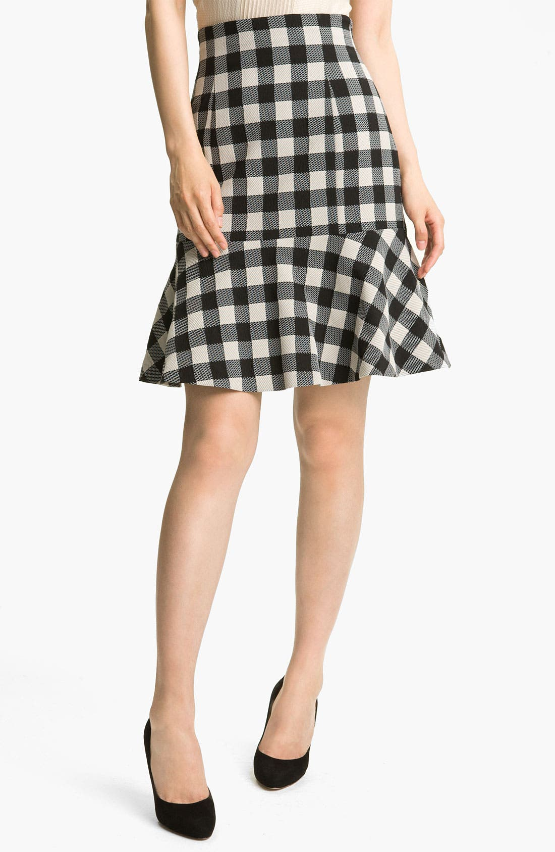Main Image - Tracy Reese Gingham Flare Skirt