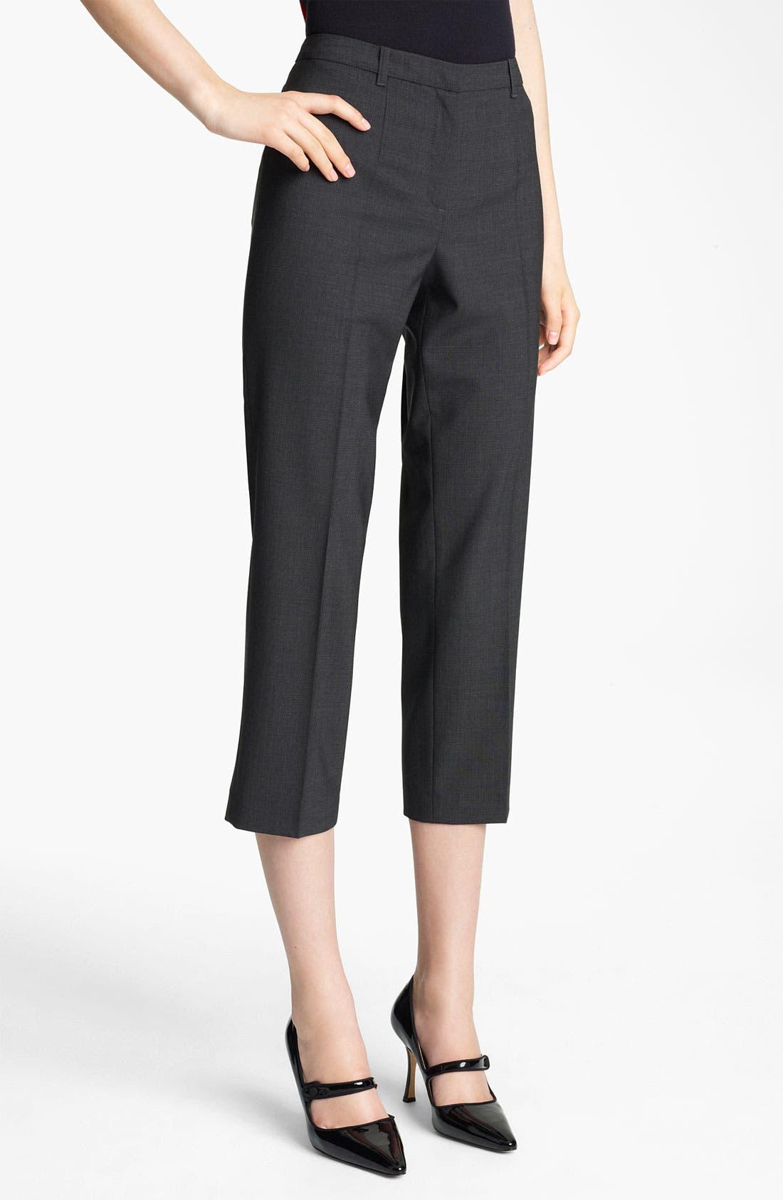 Alternate Image 1 Selected - Jil Sander Navy Crop Stretch Wool Pants