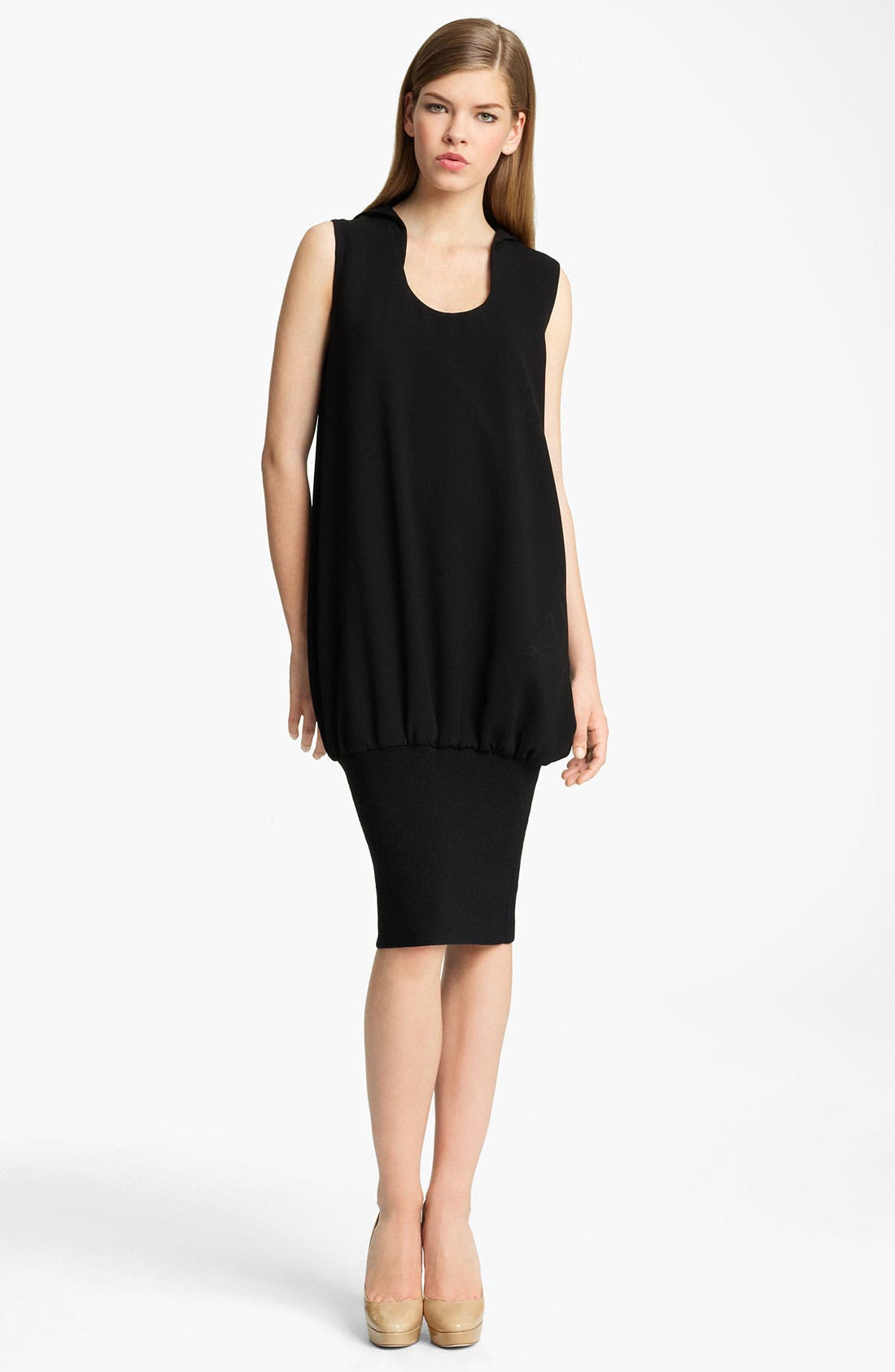 Alternate Image 1 Selected - Jil Sander Ribbed Hem Crepe Dress