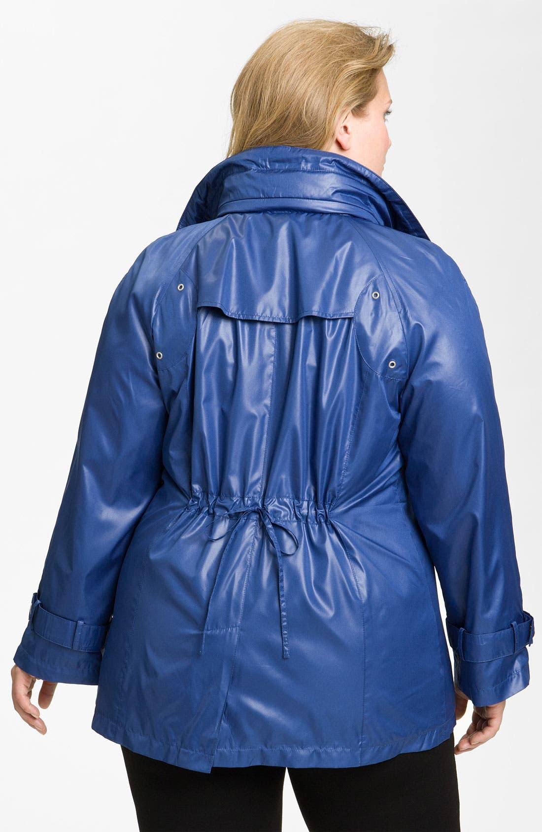 Alternate Image 2  - Platinum Utex Ultra Lightweight Water Repellent Jacket (Plus)