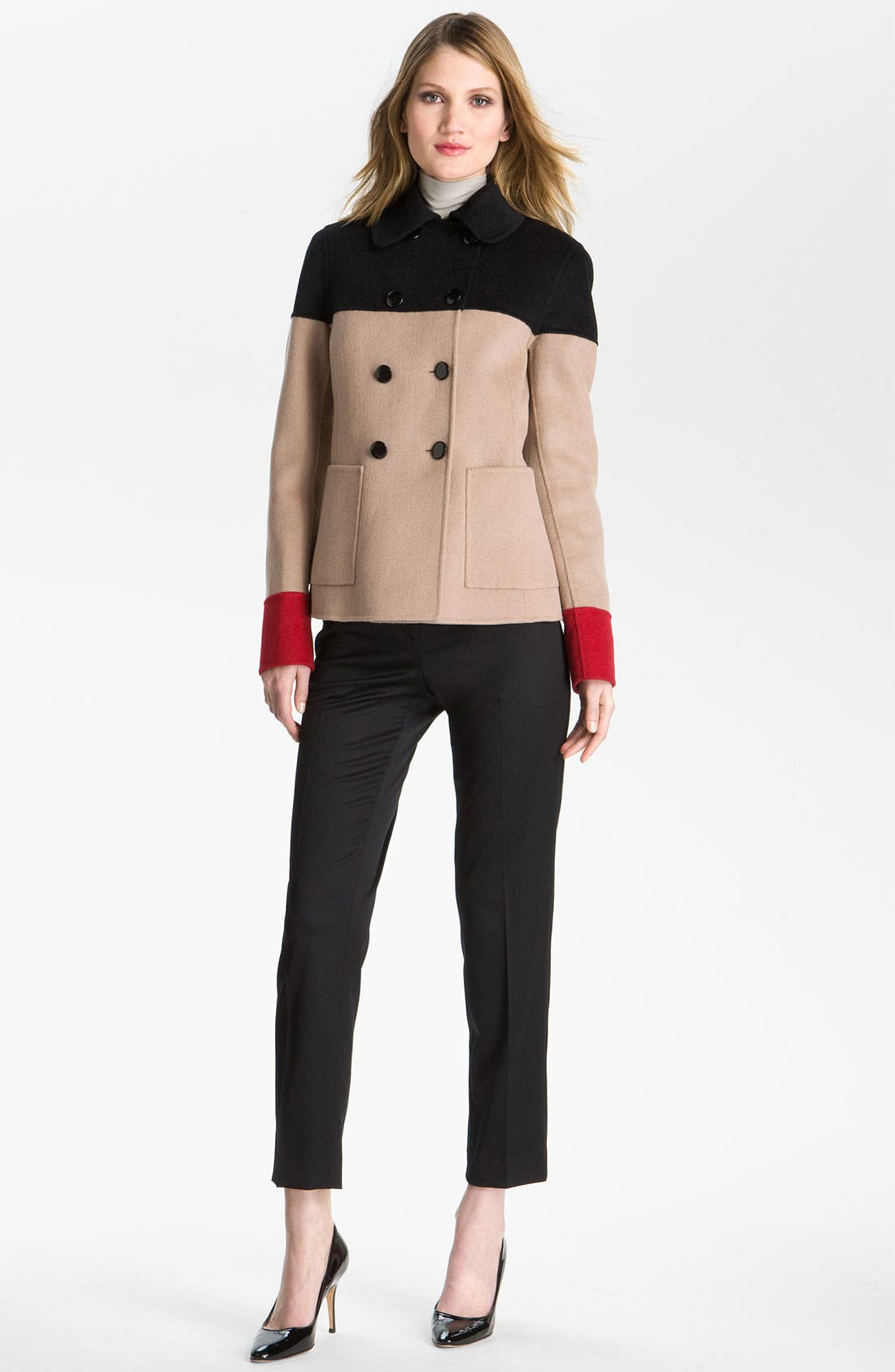 Alternate Image 1 Selected - St. John Collection Colorblock Peacoat