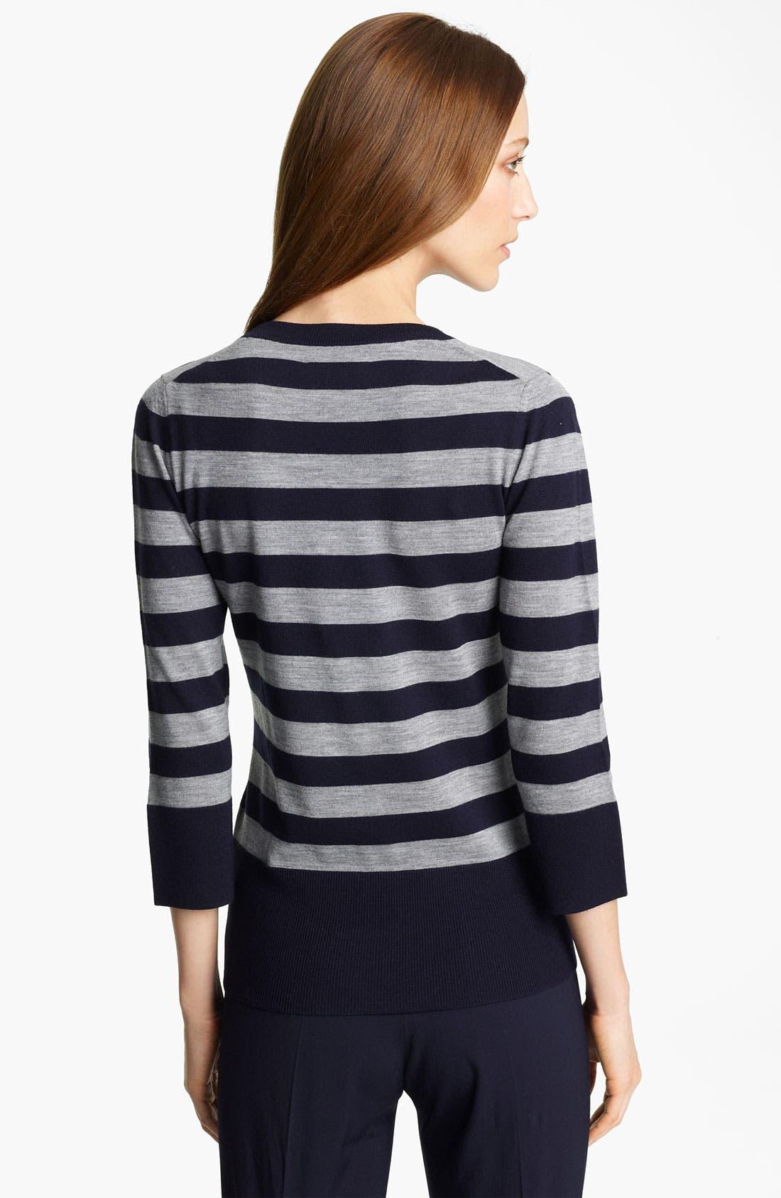Alternate Image 2  - Burberry London Stripe Knit Sweater