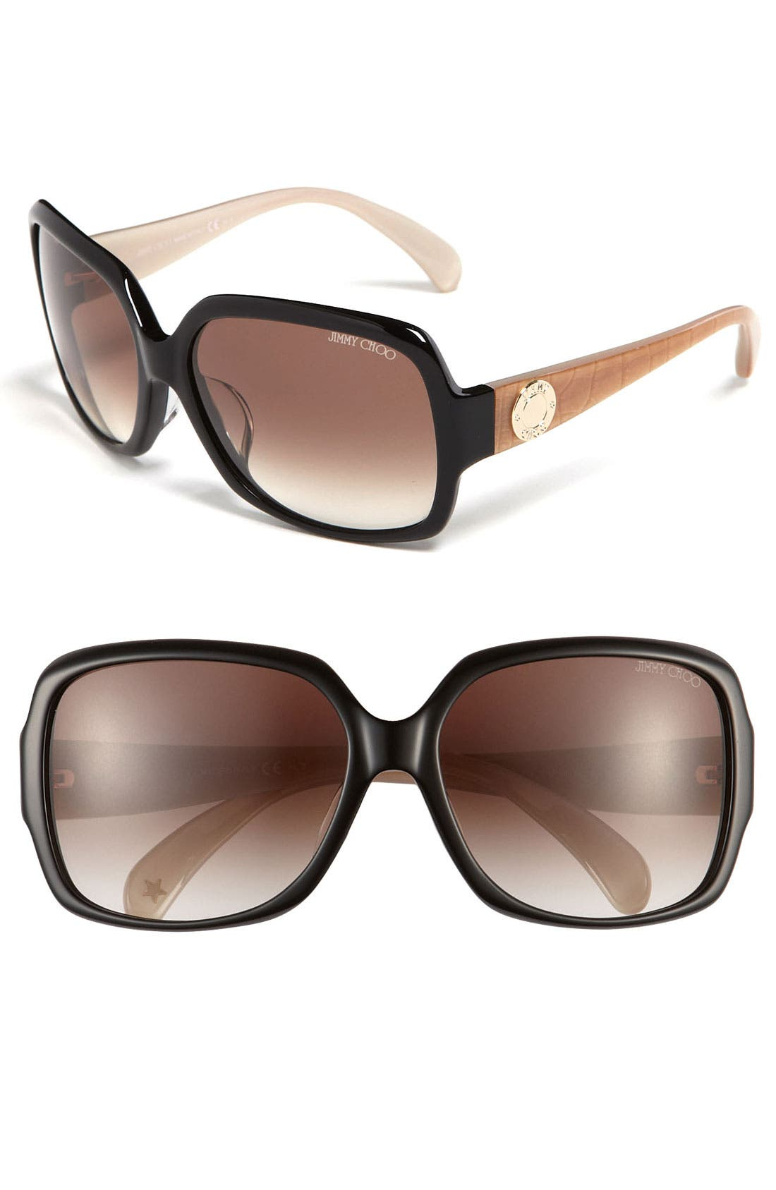 Alternate Image 1 Selected - Jimmy Choo 'Veruschka - Special Fit' Sunglasses