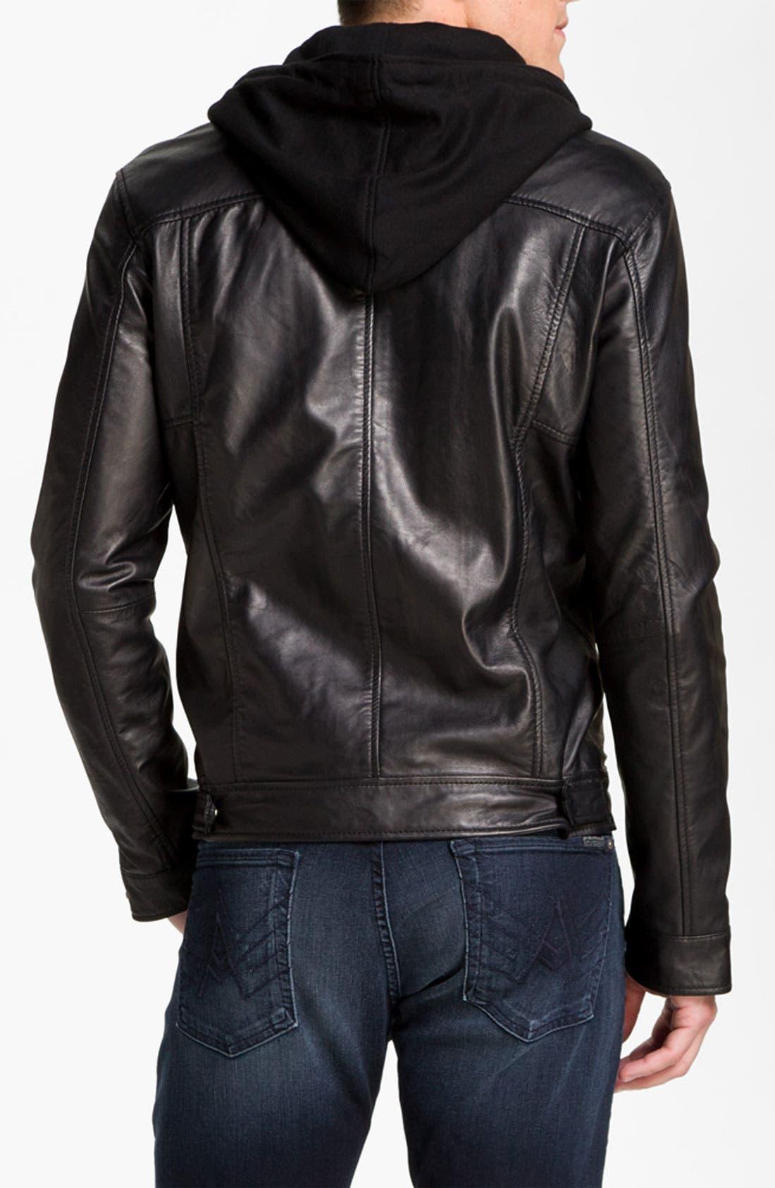 Alternate Image 2  - 7 Diamonds 'Manila' Trim Fit Leather Jacket
