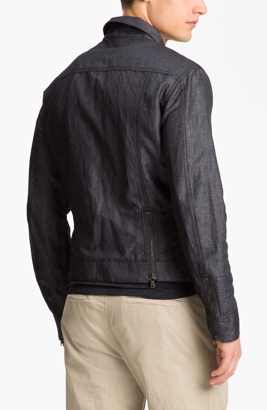 Alternate Image 2  - John Varvatos Star USA Cotton & Linen Jean Jacket