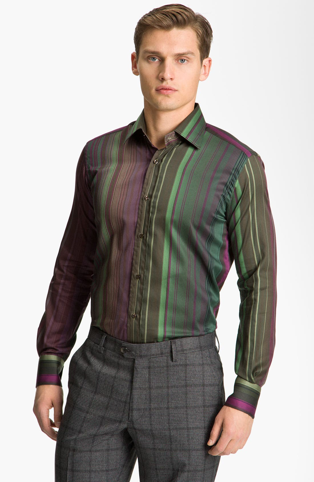 Alternate Image 1 Selected - Etro Stripe Cotton Shirt