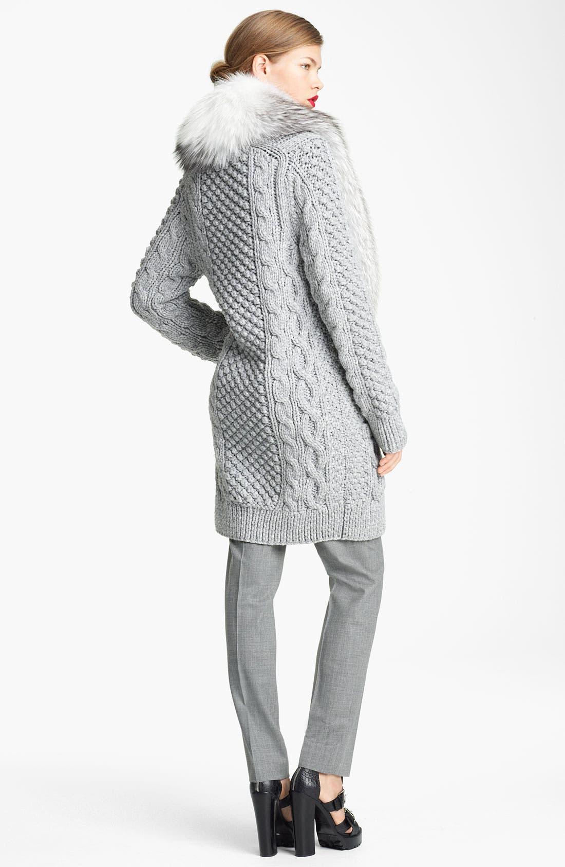 Alternate Image 4  - Michael Kors 'Samantha' Skinny Tropical Wool Pants