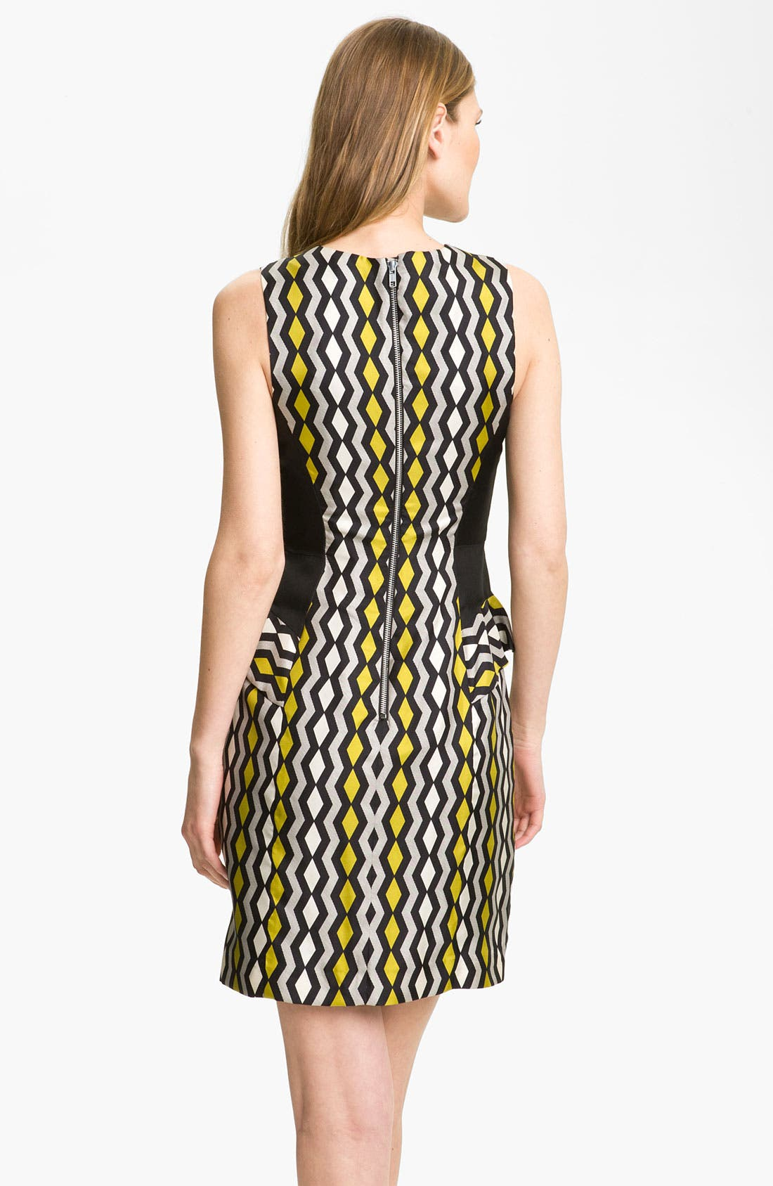 Alternate Image 2  - Milly 'Viola' Geo Print Peplum Dress