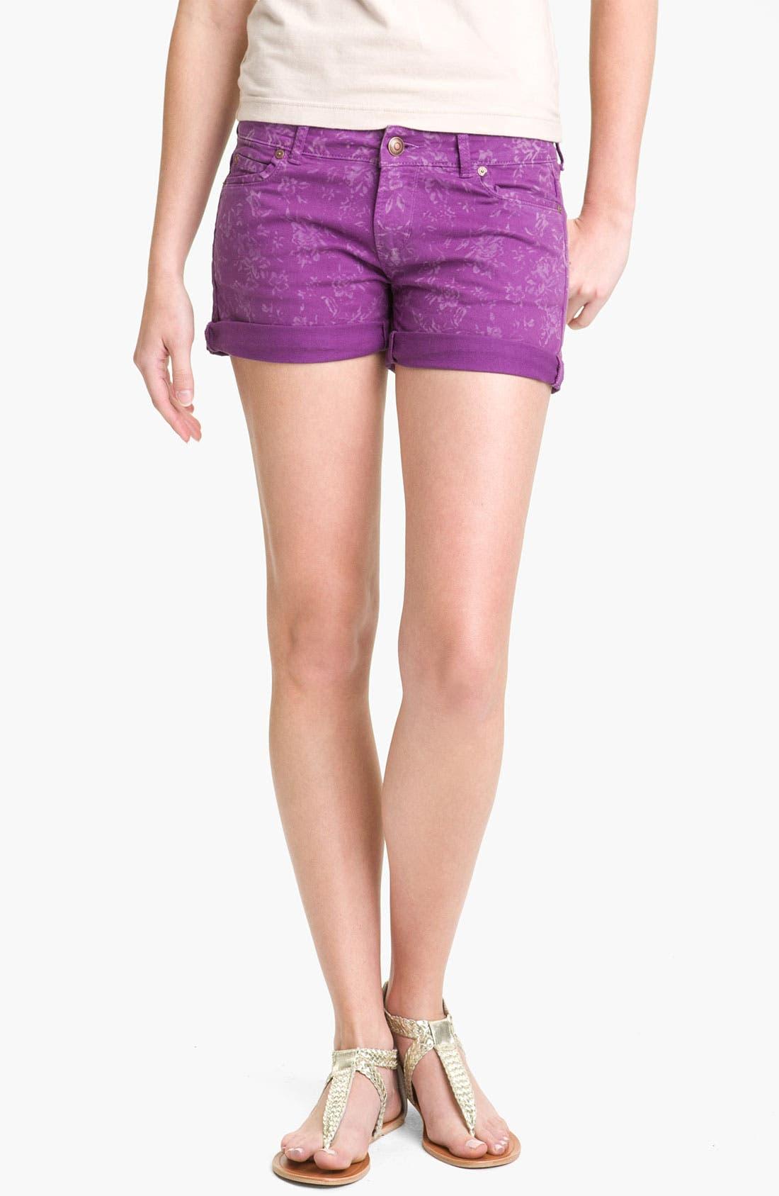 Alternate Image 5  - Articles of Society 'Kara' Cuff Denim Shorts (Flower) (Juniors)