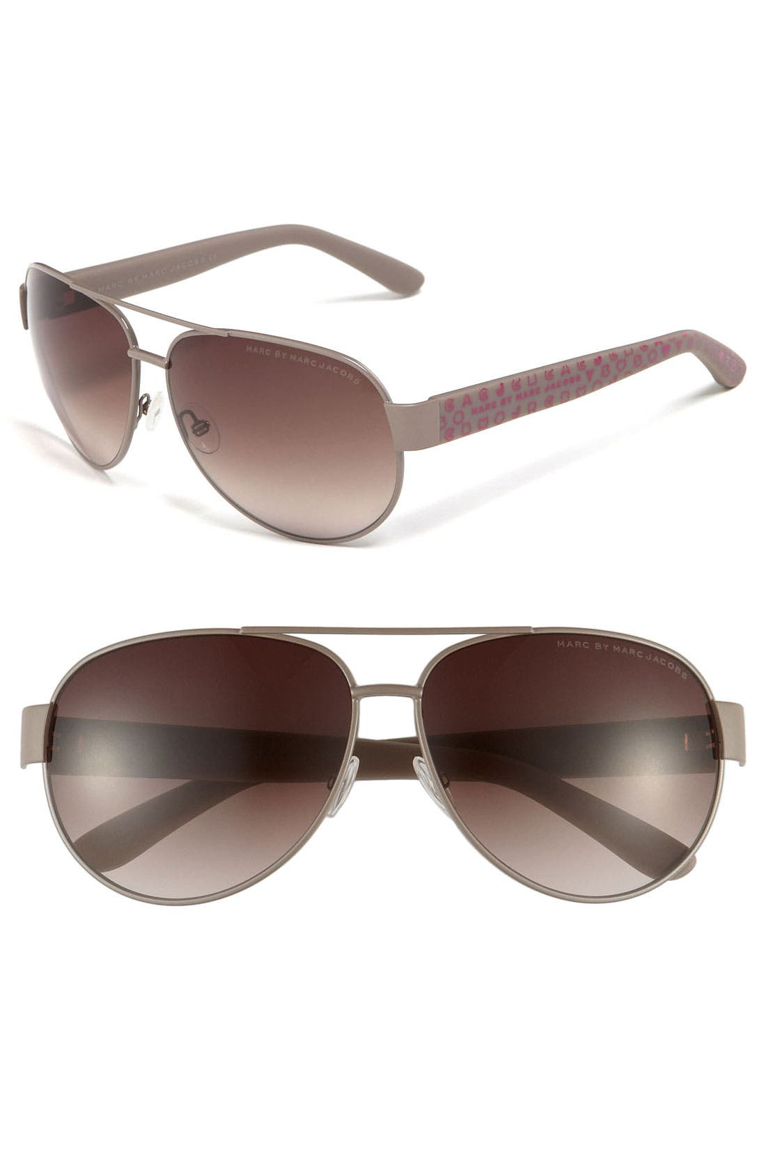 Main Image - MARC BY MARC JACOBS 60mm Aviator Sunglasses