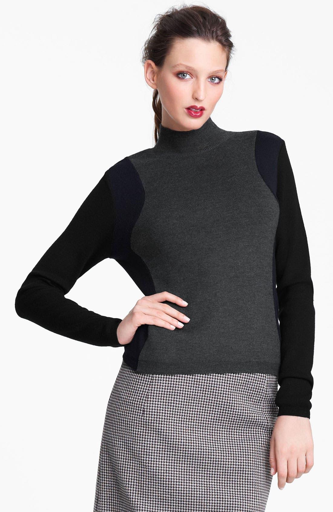 Alternate Image 1 Selected - Marni Edition Mock Neck Colorblock Sweater